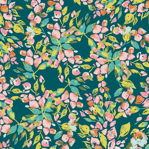 Boho Fusion Bougainvillea Floral Knit Fabric Apparel Fabric AR50