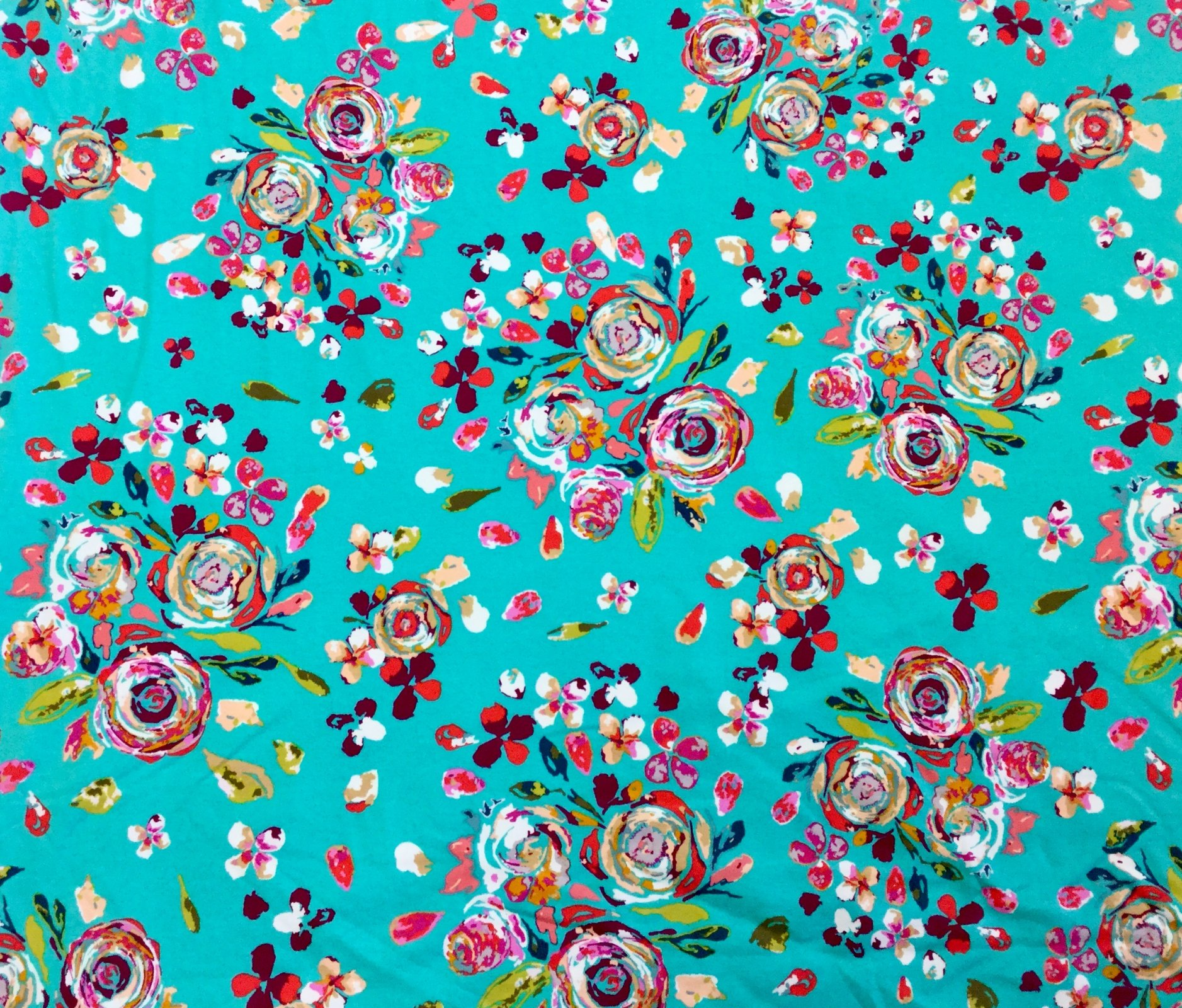 Boho Fusion Boquet Floral Cotton Knit Fabric Apparel Fabric AR49