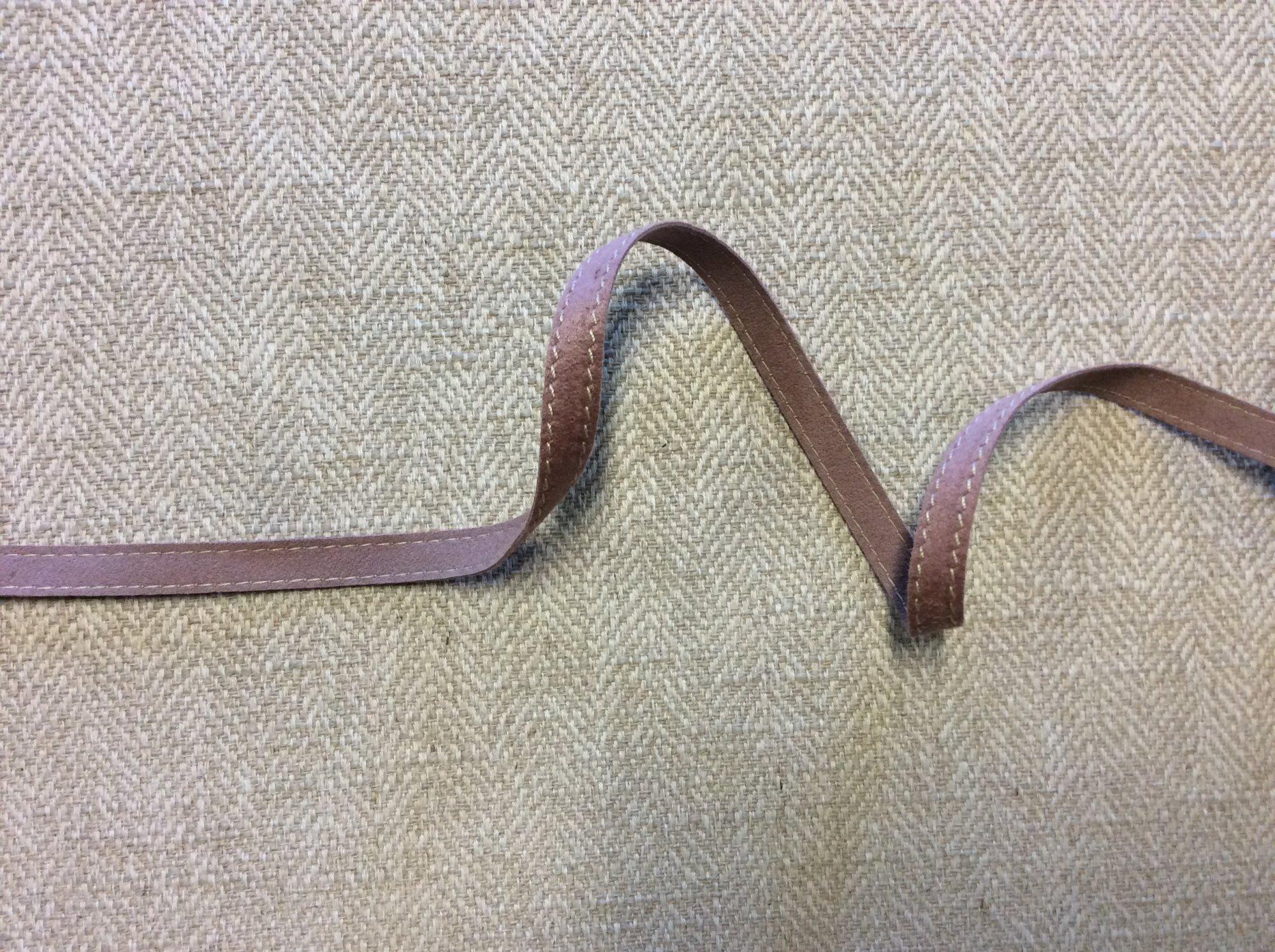 Mokuba Trim Made in Japan Mauve Faux Suede Apparel Ribbon DMT120