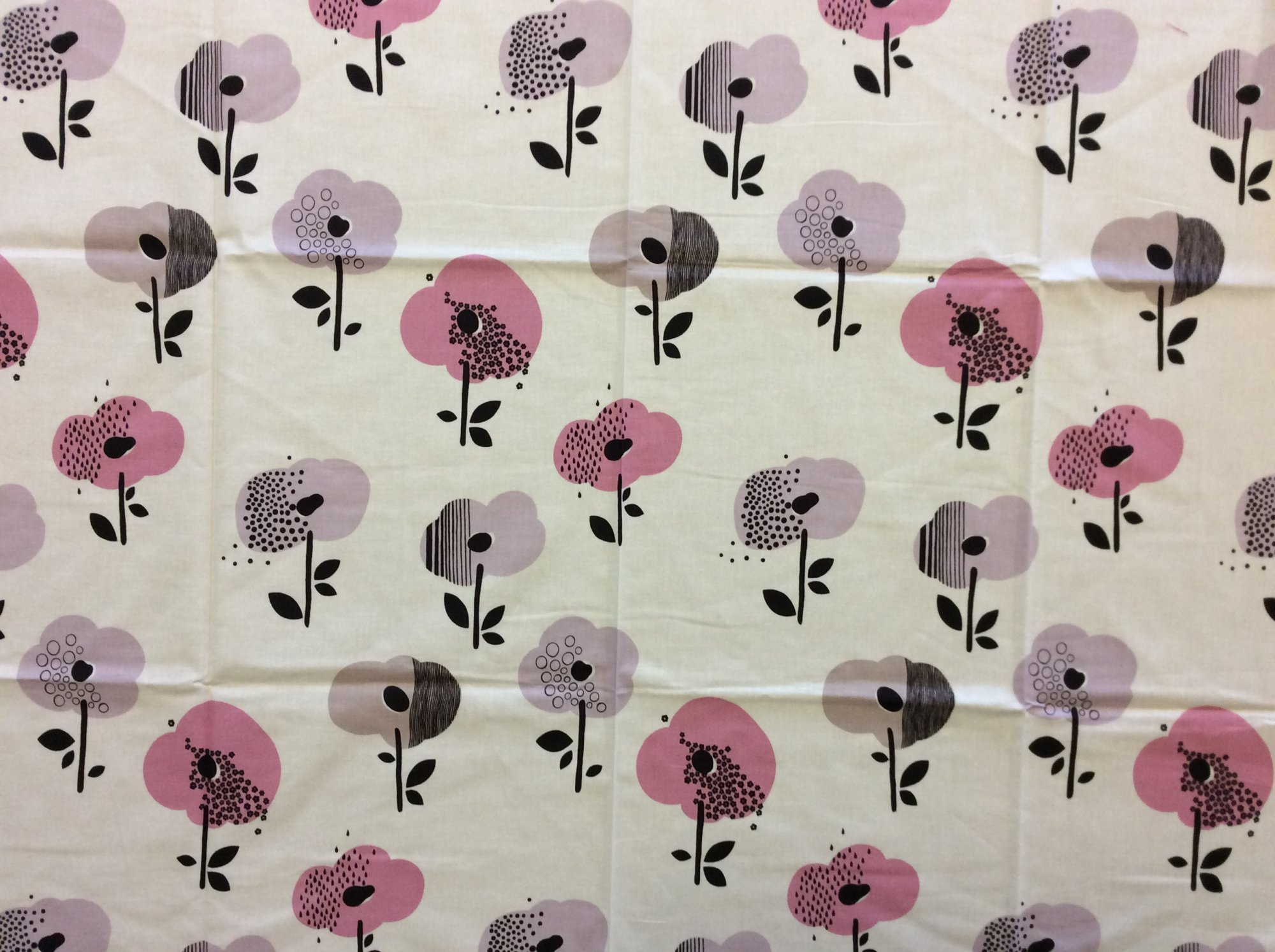 Rare! Out of Print Alexander Henry! Sold by the Piece broome street floral Purple Pink Modern Floral Cotton Quilt Fabric RPAH01