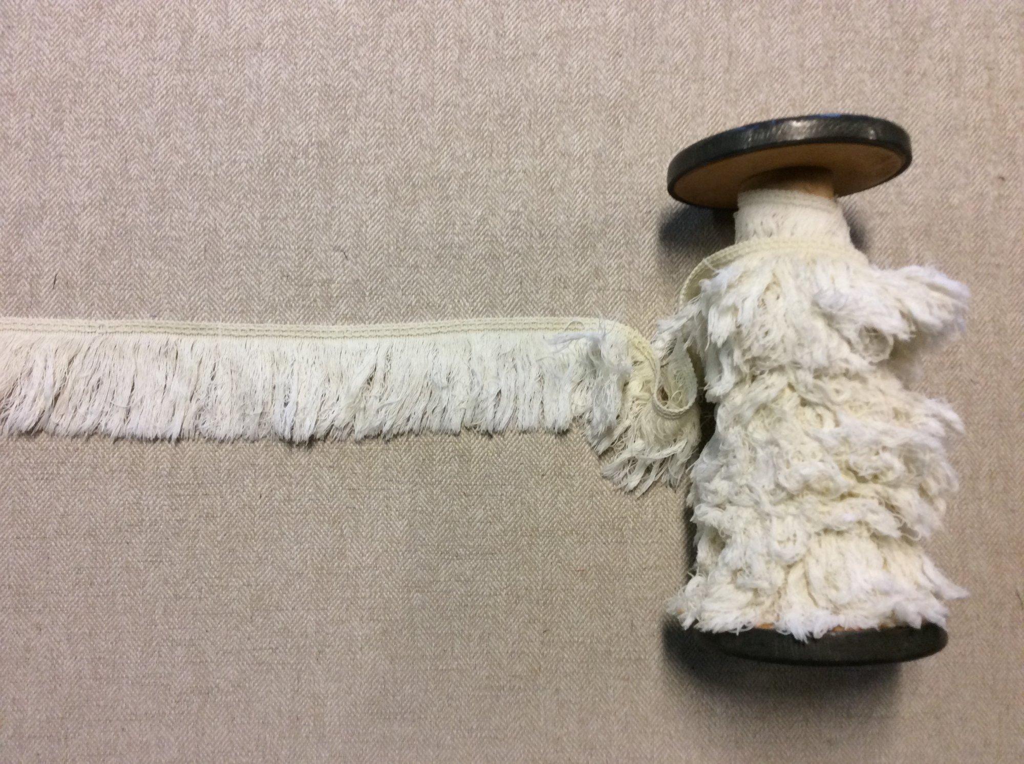 True Vintage White Cotton Fringe Apparel Home Decor Trim TRIM1084