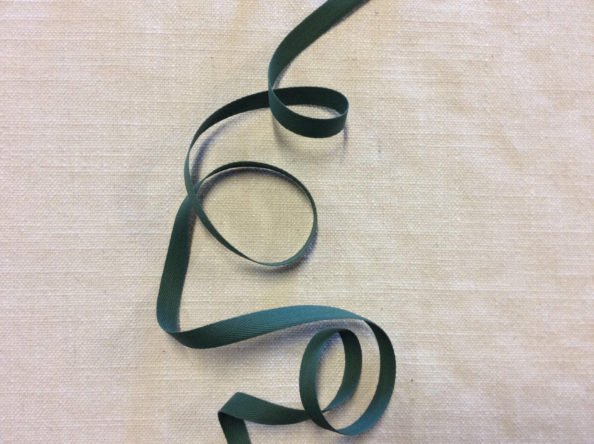 Forest Green Twill Tape Ribbon Trim RIB0137