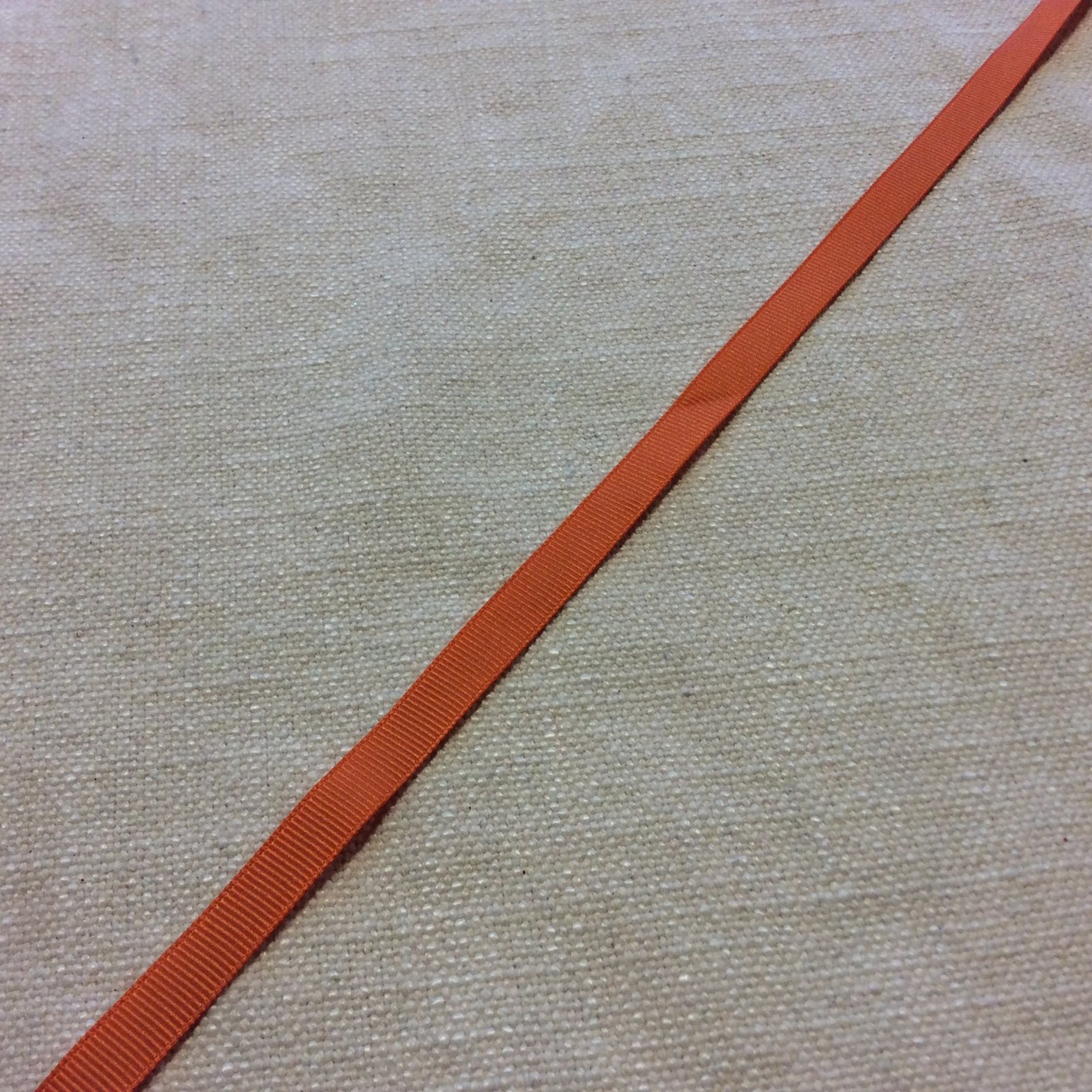 Grosgrain Ribbon 3/8 Light Orange Trim Ribbon RIB1146