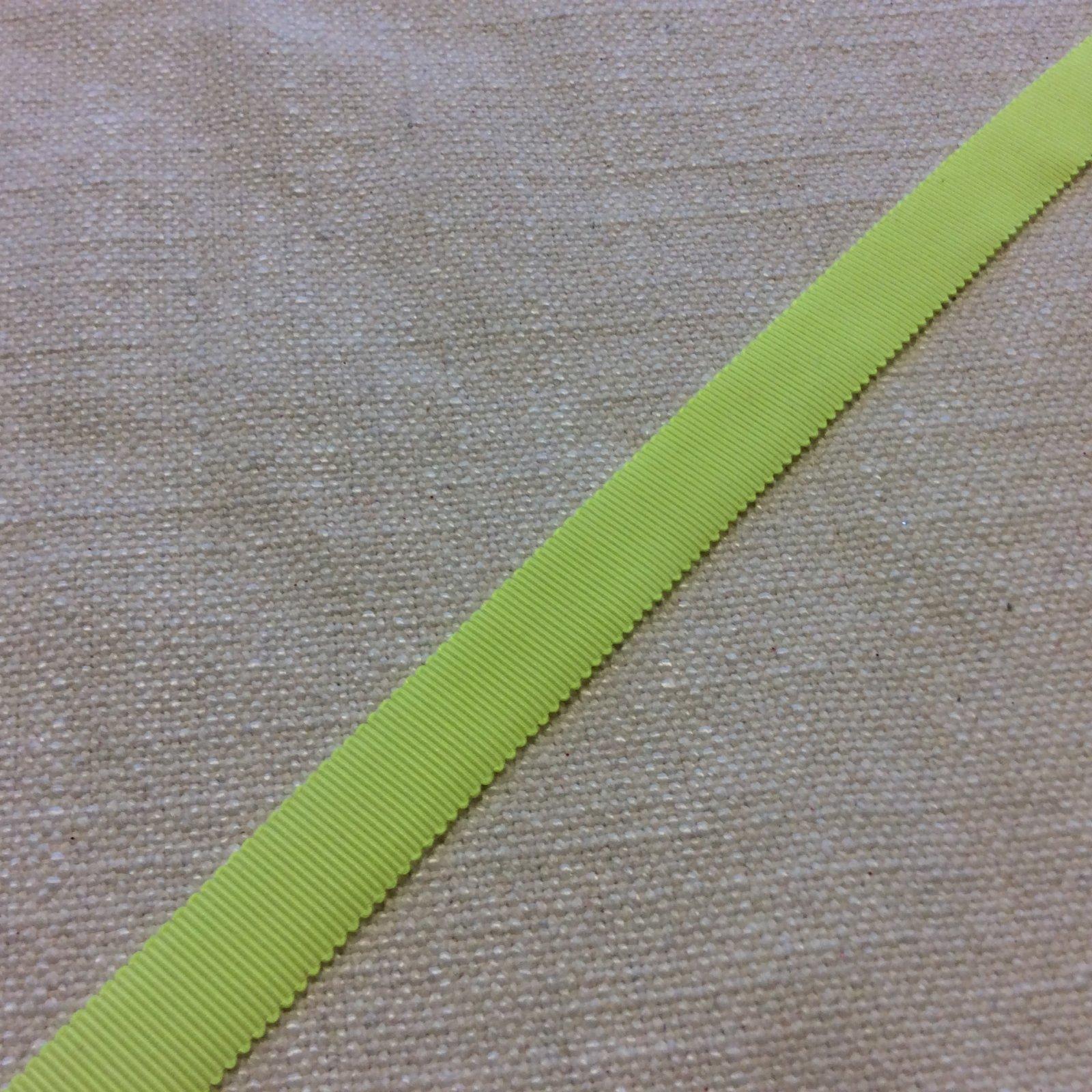 Grosgrain Ribbon 5/8 High End Japanese Woven Fluorescent Yellow Trim Ribbon RIB1168