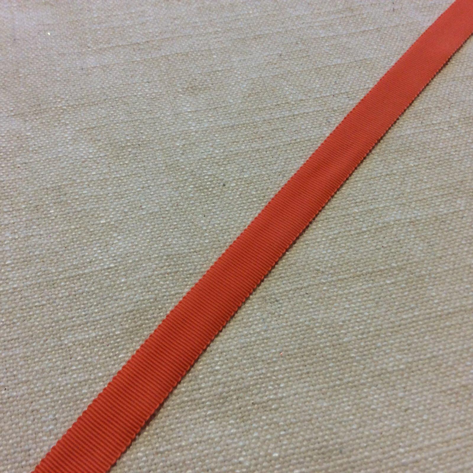 Grosgrain Ribbon 5/8 High End Japanese Woven Orange Trim Ribbon RIB1169