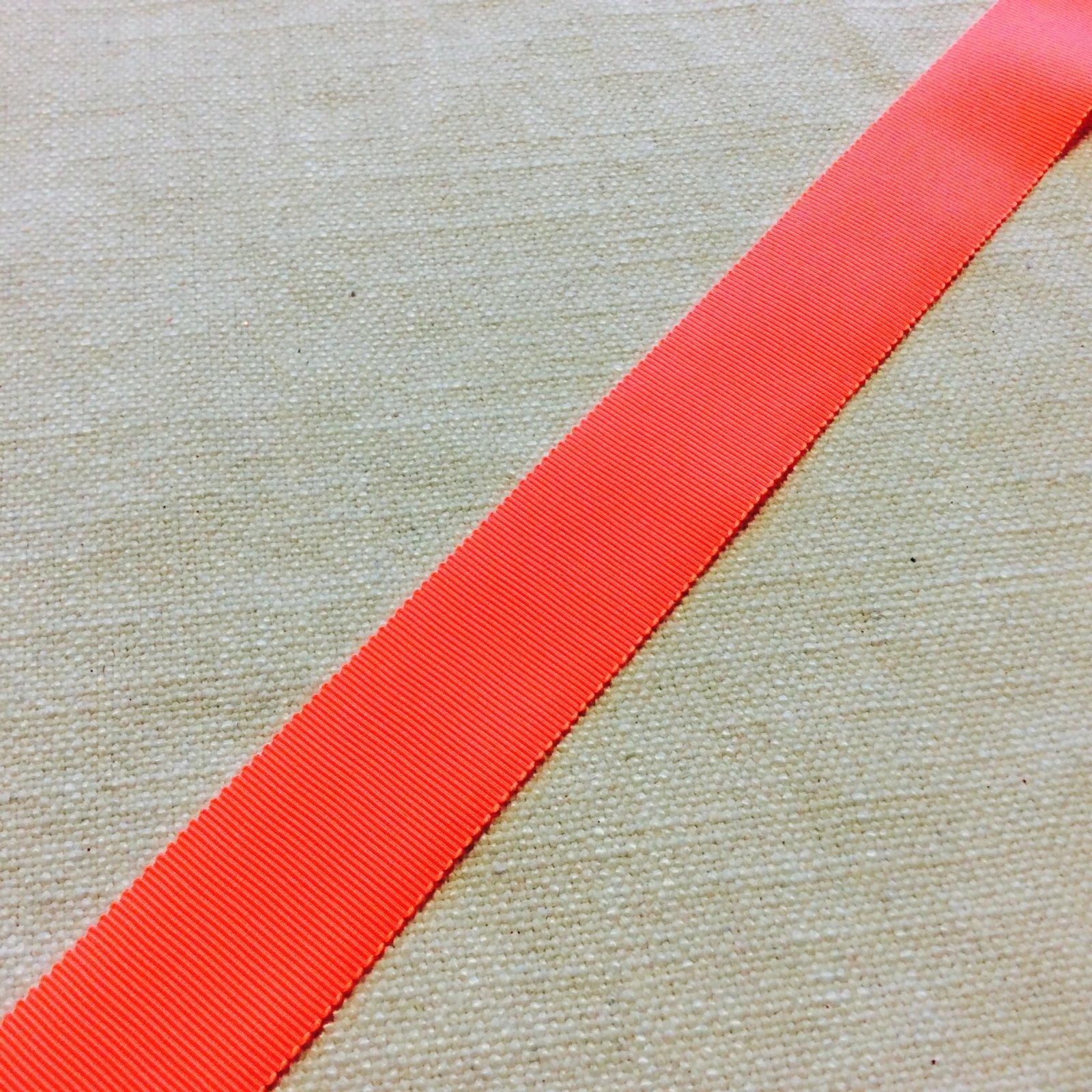 Grosgrain Ribbon 1.25 High End Japanese Woven Fluorescent Orange Trim Ribbon RIB1174