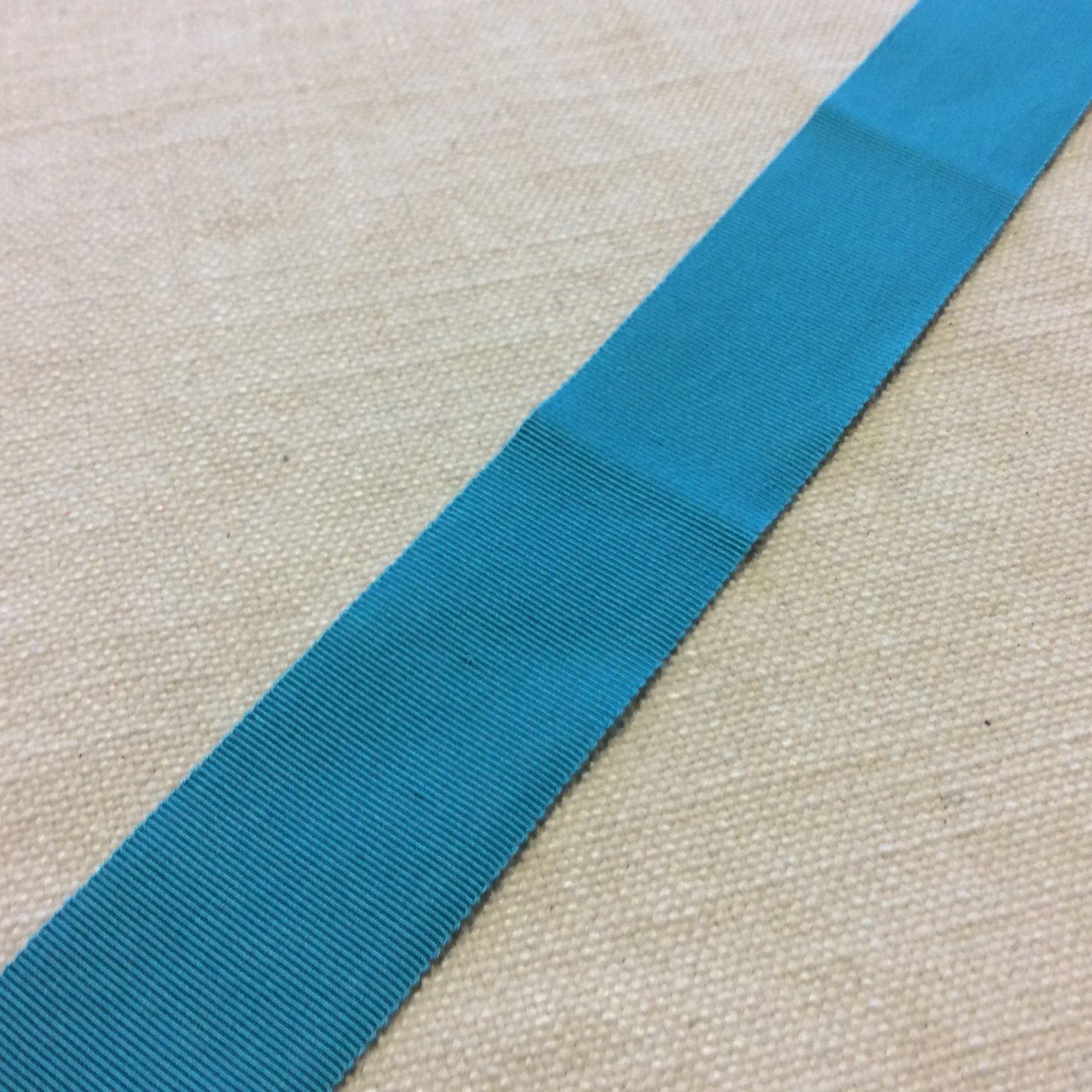 Grosgrain Ribbon 1.5 High End Japanese Woven Turquoise Blue Trim Ribbon RIB1175