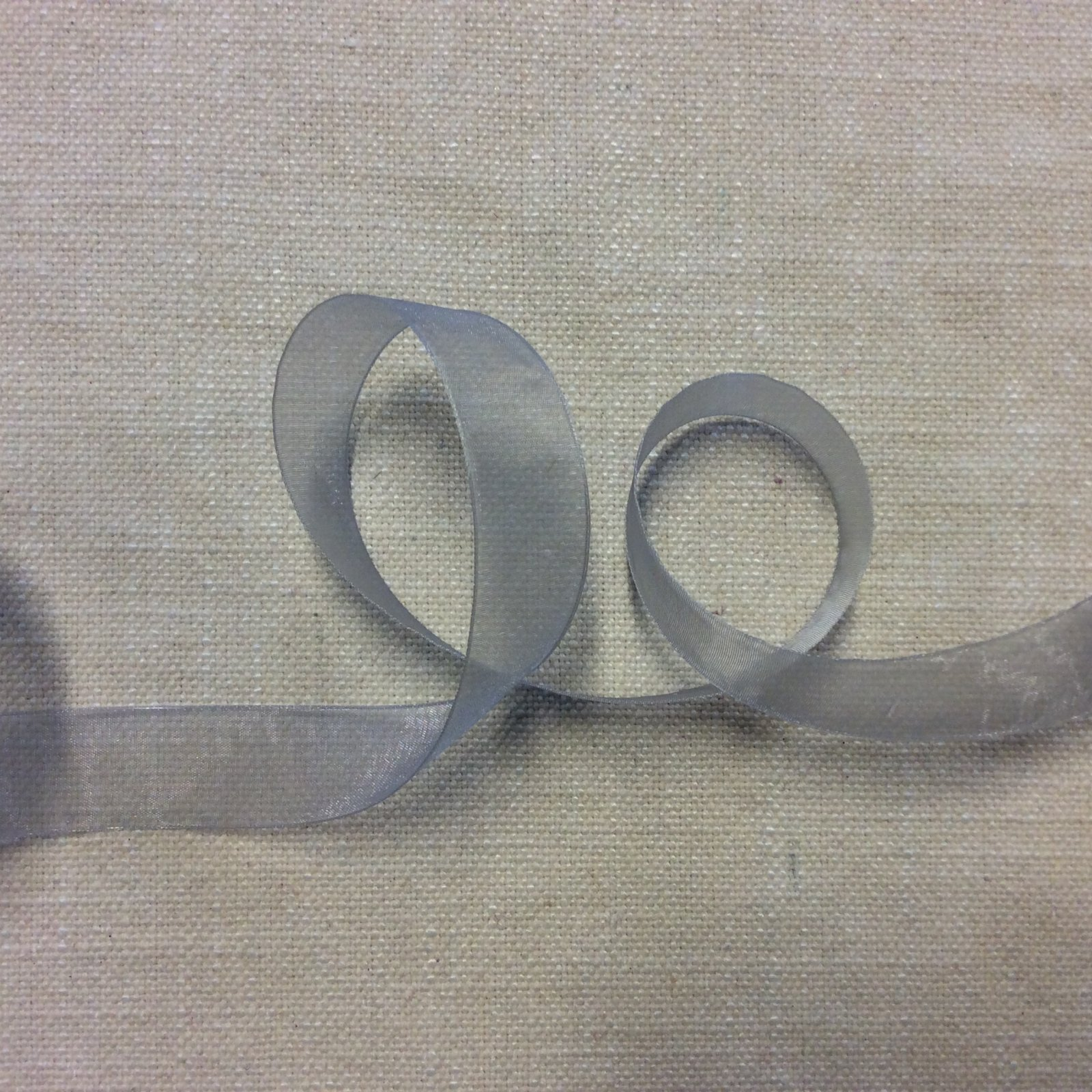 Organza Ribbon 7/8 Soft Gray Trim Ribbon RIB1185