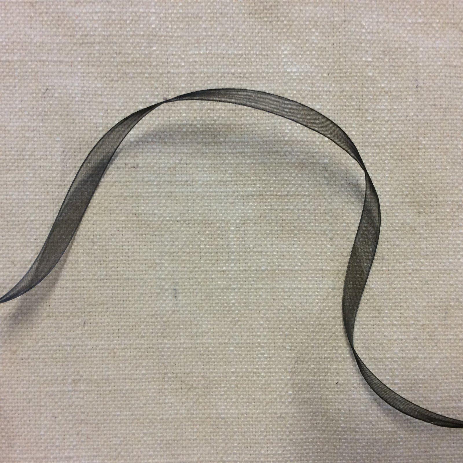 Organza Ribbon 3/8 Lightweight Black Trim Ribbon RIB1214