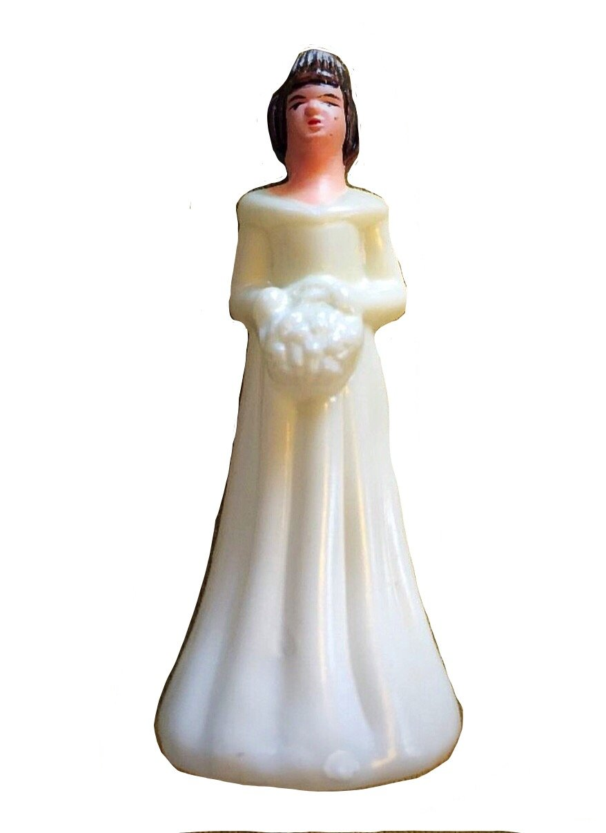 Bridesmaid Cake Toppers VINTAGE Plastic Made in Hong Kong