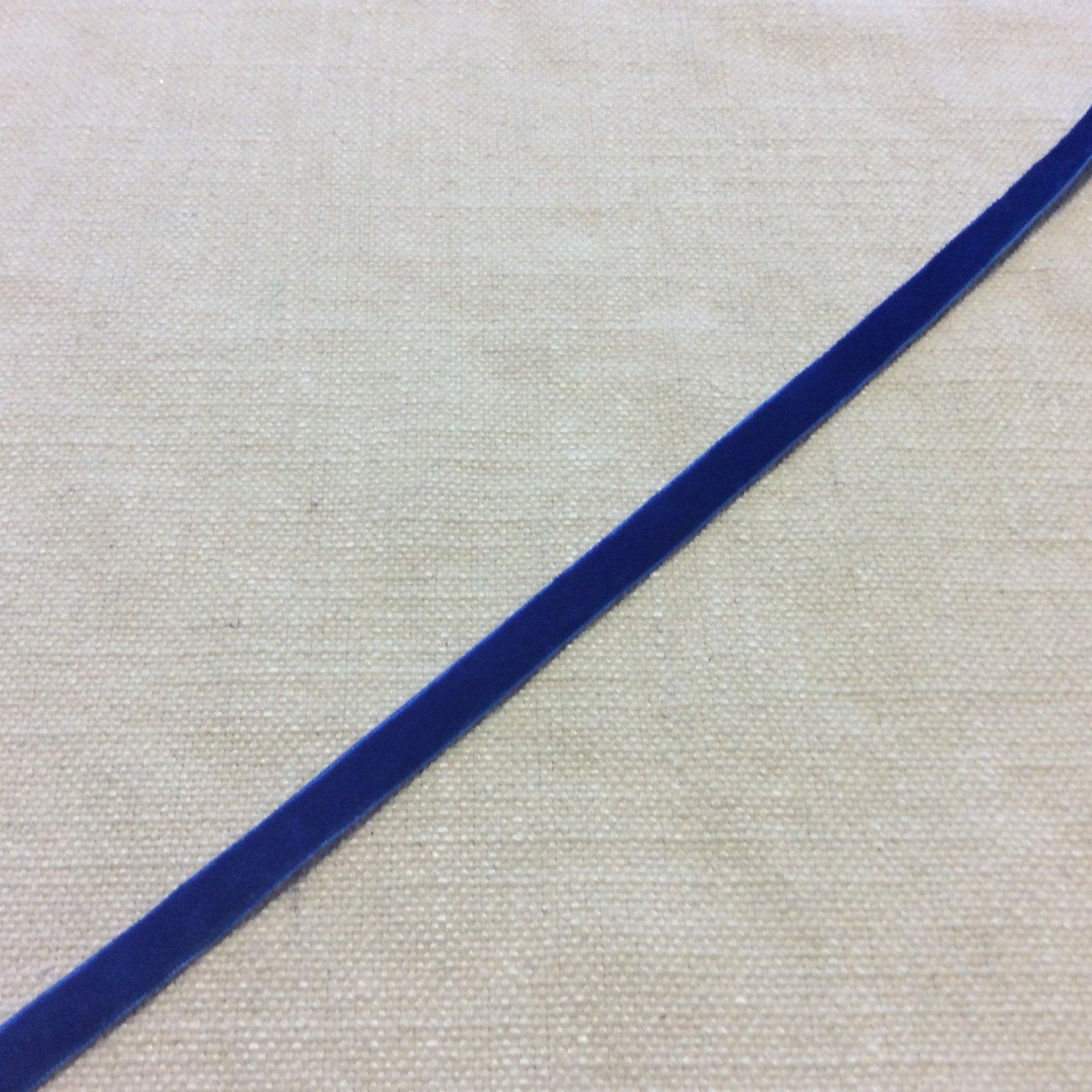 Velvet Ribbon 3/8 Royal Blue Trim Ribbon PAMA14