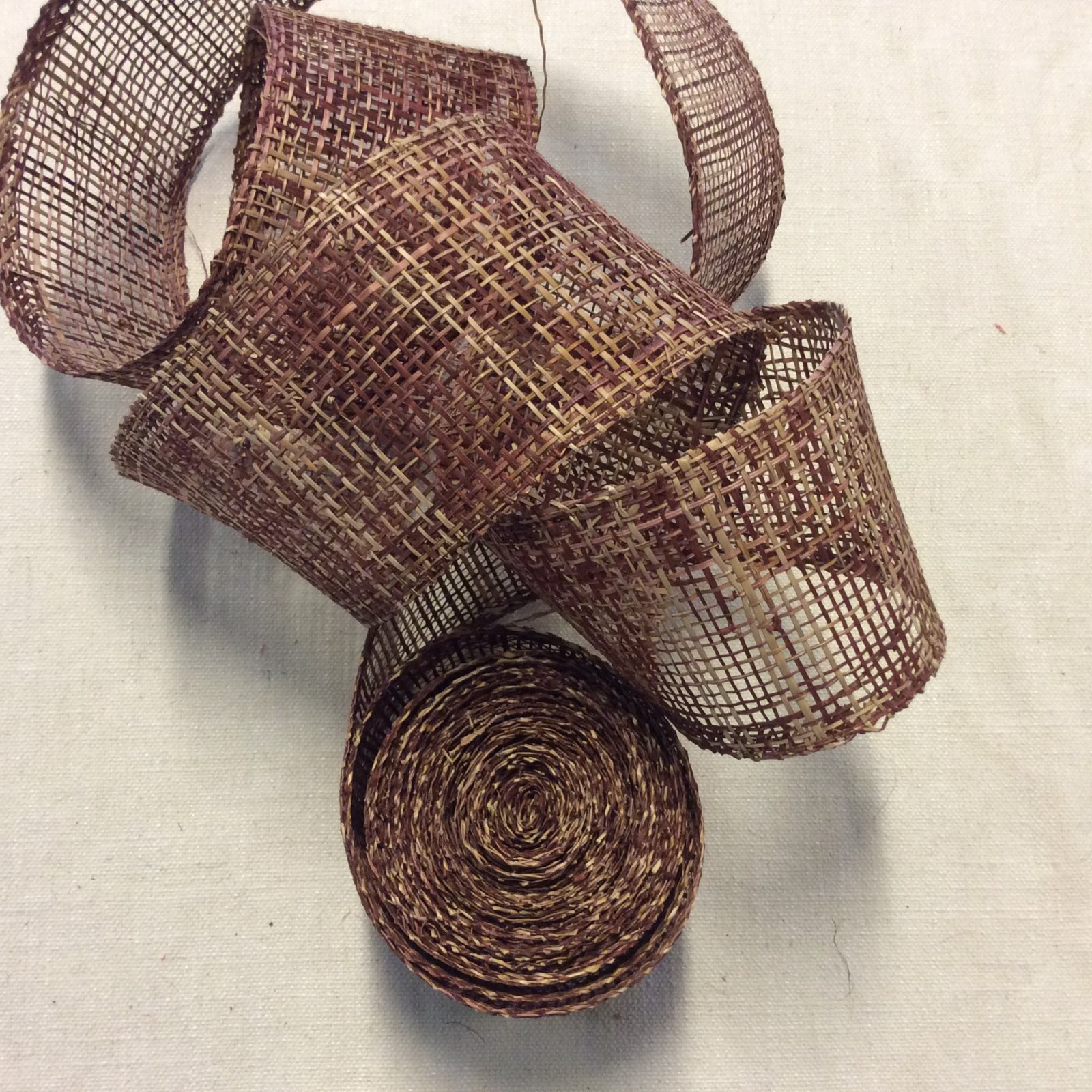 3 Yard Piece! Natural Woven Paper Like Ribbon 4 Brown Tone Trim RIB1296