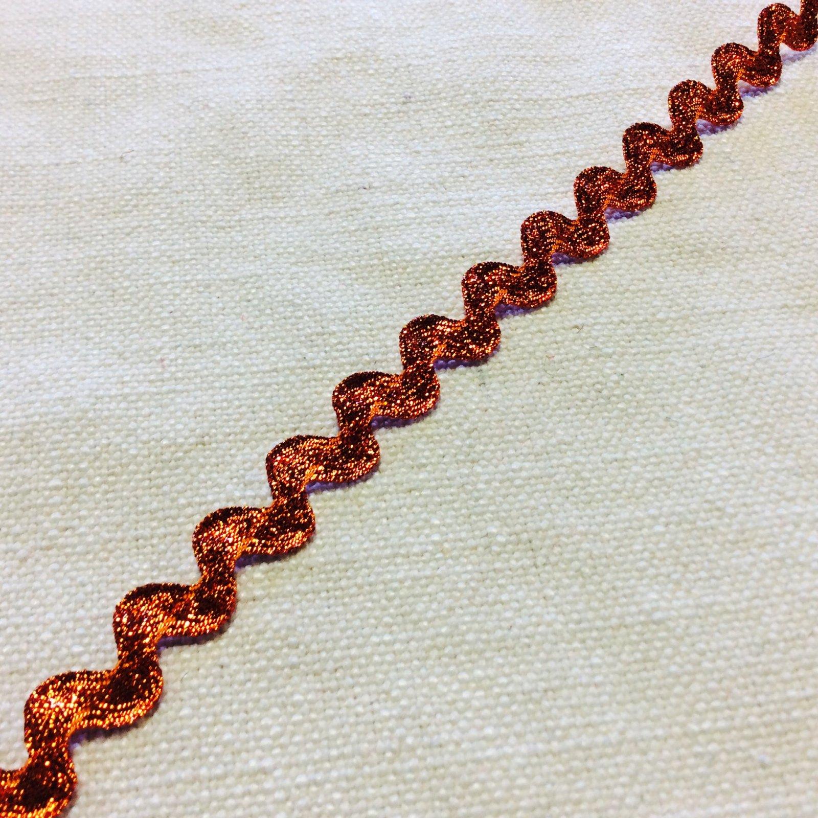 Metallic Orange 3/8 Wide Ric Rac Ribbon Trim RIB1336