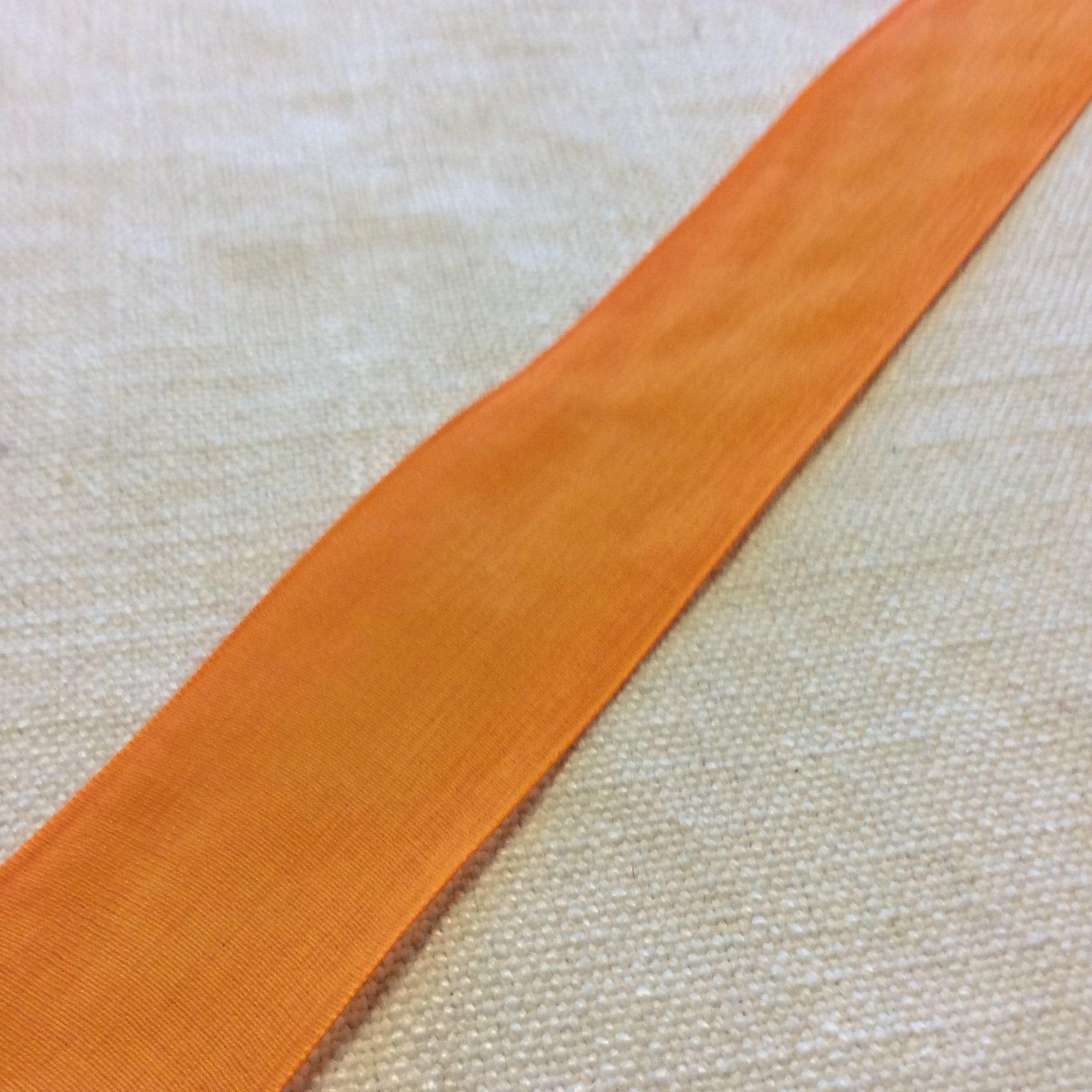 Faux Linen Spanish Yellow Orange 1.5 Decorative Trim Ribbon RIB1363