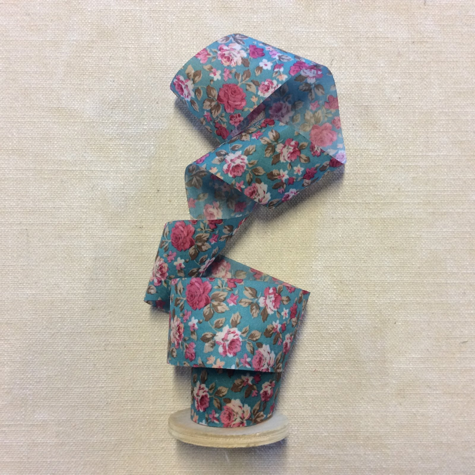 Thin Paperlike Faux Silk Shabby Chic Floral French Country Cabbage Rose Flower 2 Ribbon Trim RIB1365