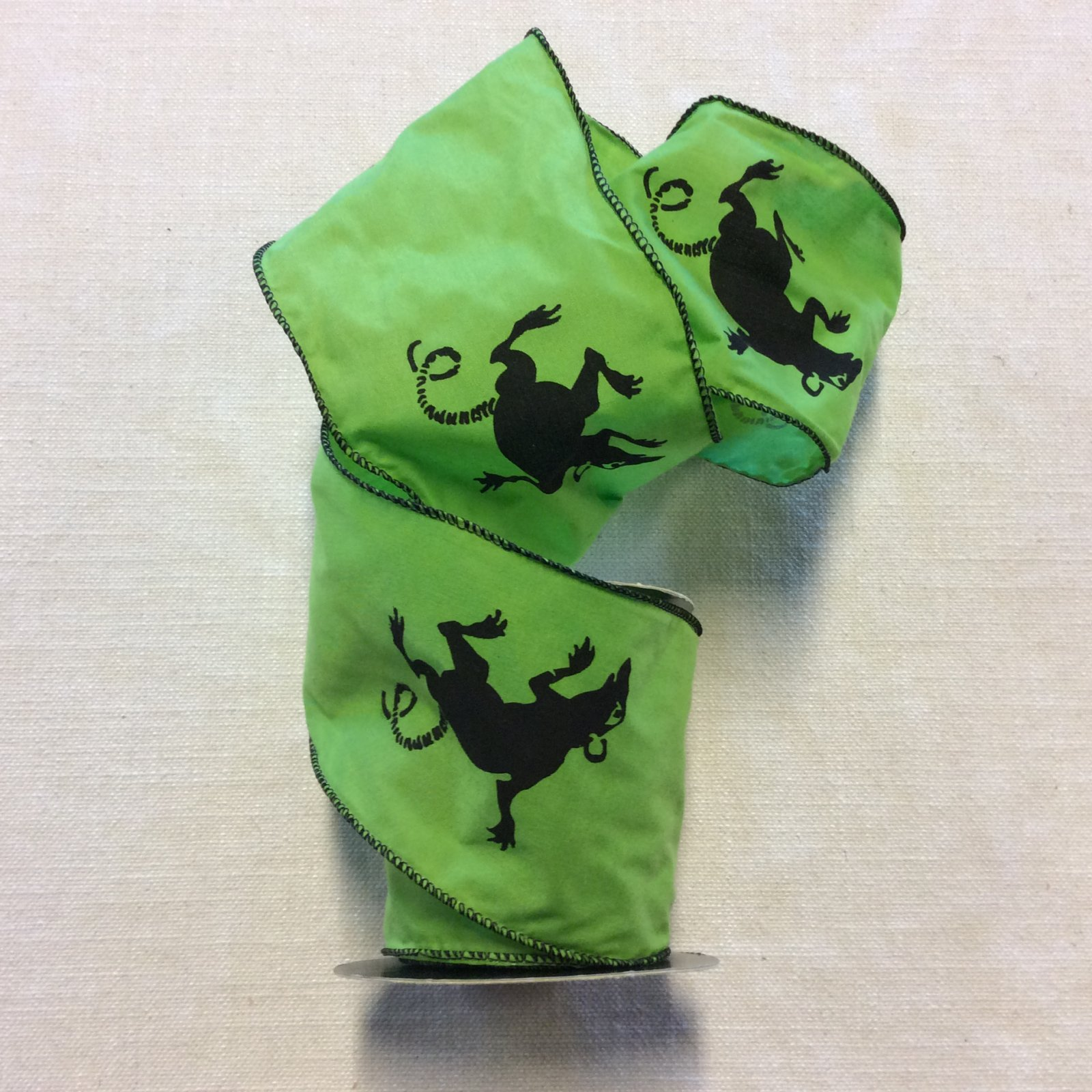 Toxic Rat Printed Lime Green Halloween Wired Ribbon Decor Trim RIB1374