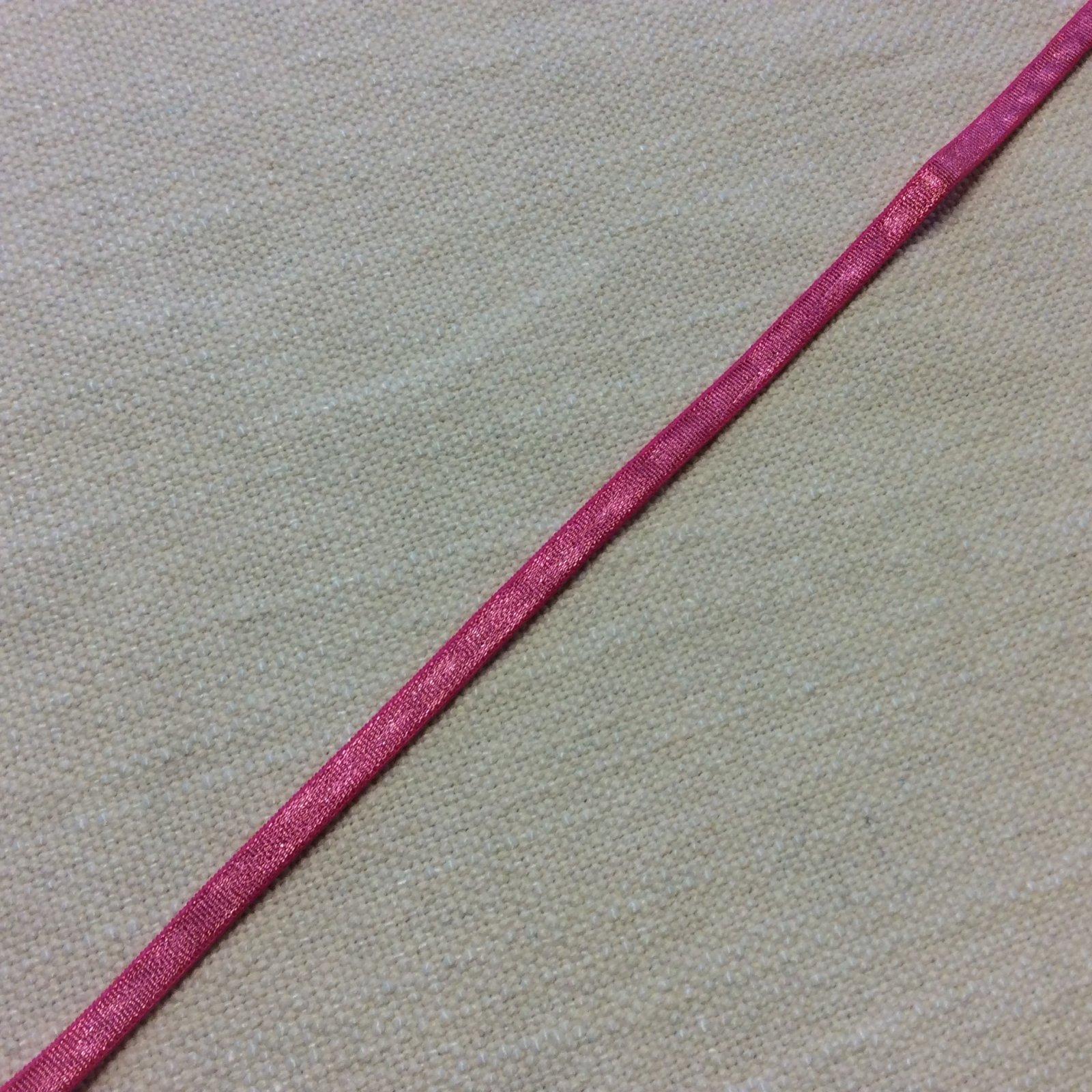 Made in France Flat Edge 3/8 Bright Pink Lingerie Elastic ELA009