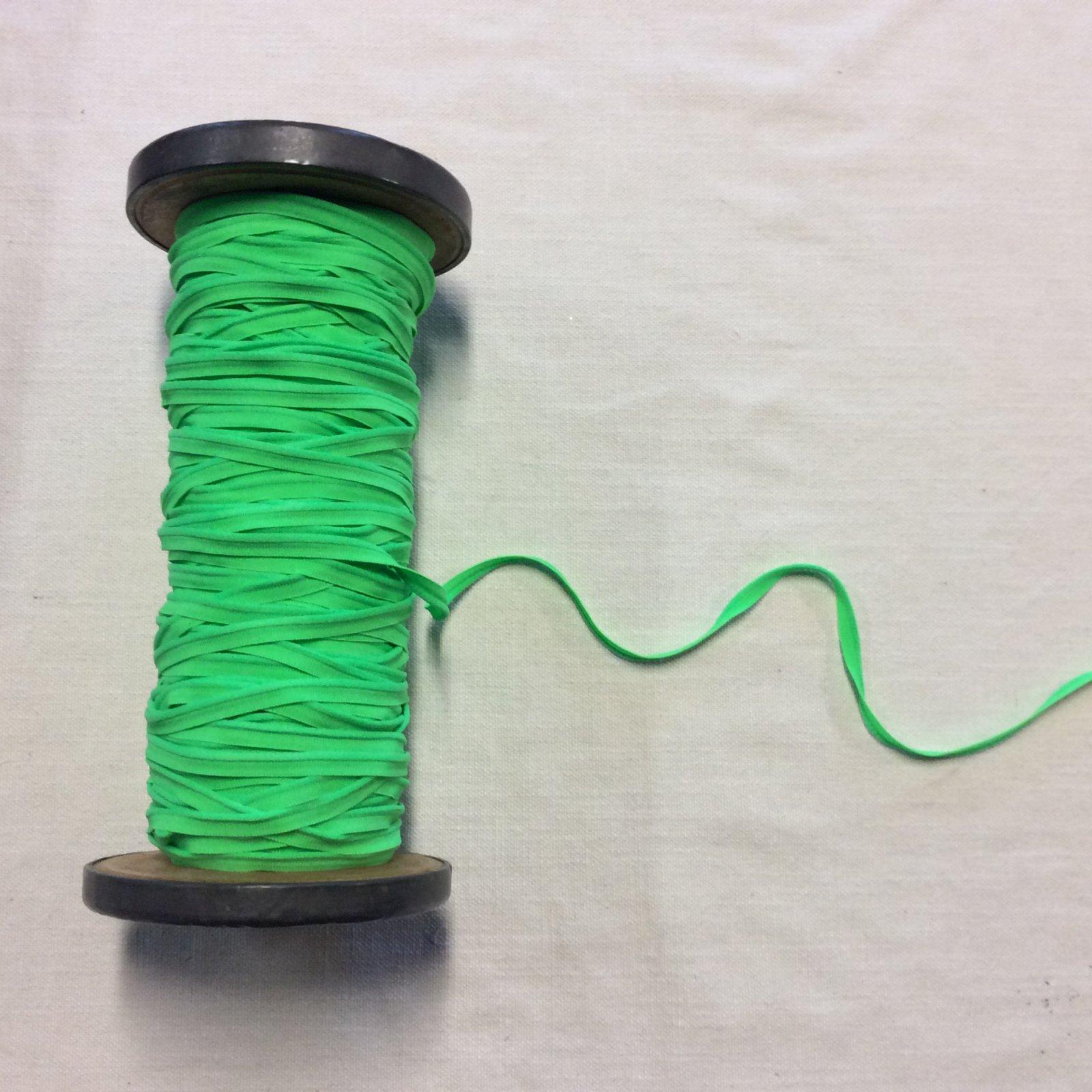 Made in France 3/8 Bright Green Lip Cord Apparel Elastic ELA011