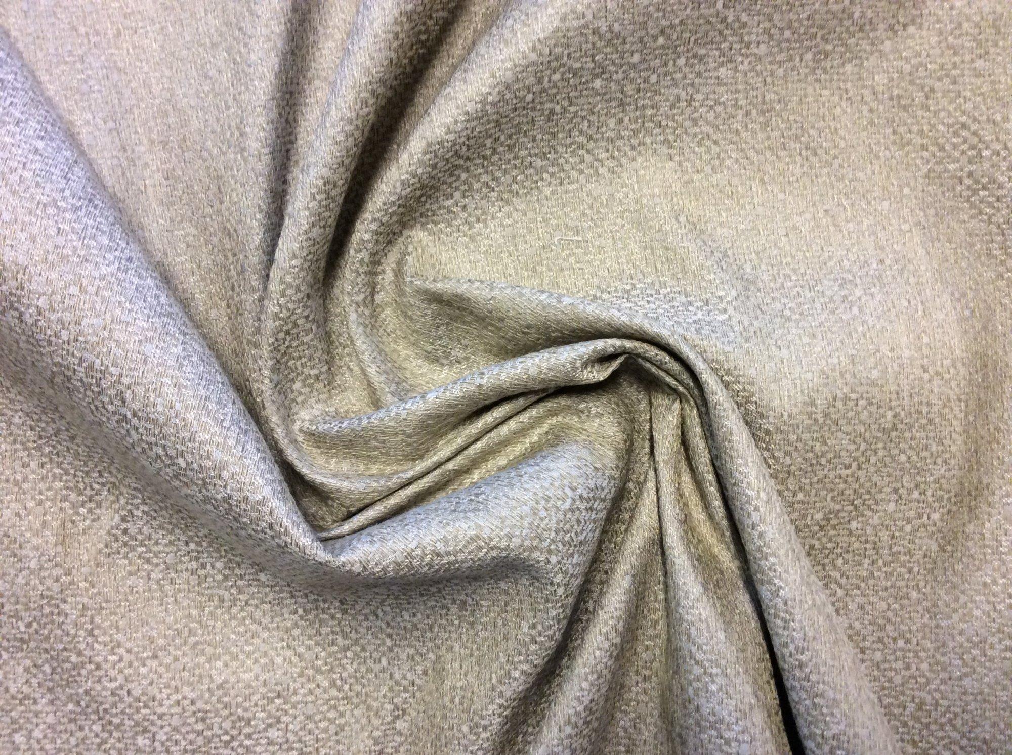 Pindler & Pindler Villandry Khaki Drapery Taupe Gold Textured Silk Fabric PI003