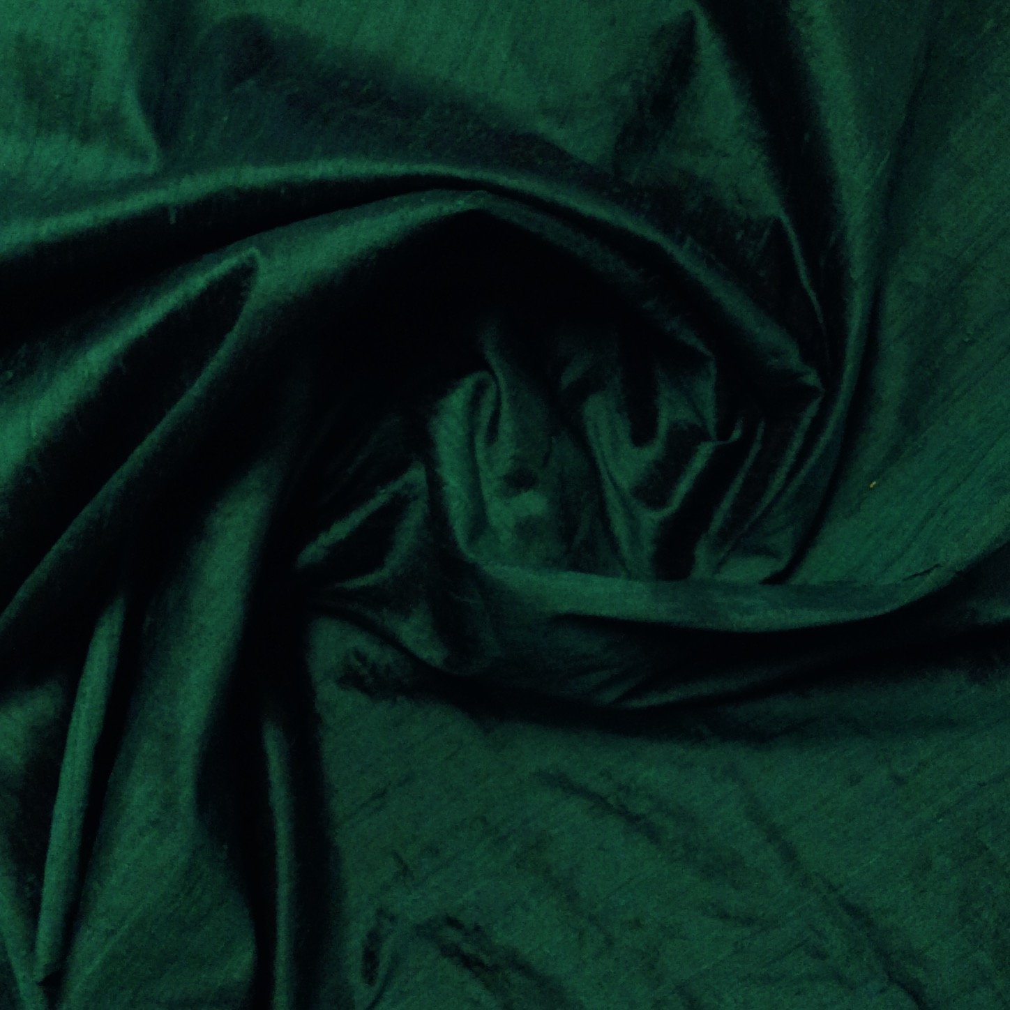 SILK Black Emerald Green Exquisite Hand Woven Dupioni 100% Silk Fabric Drapery By the Yard SH24