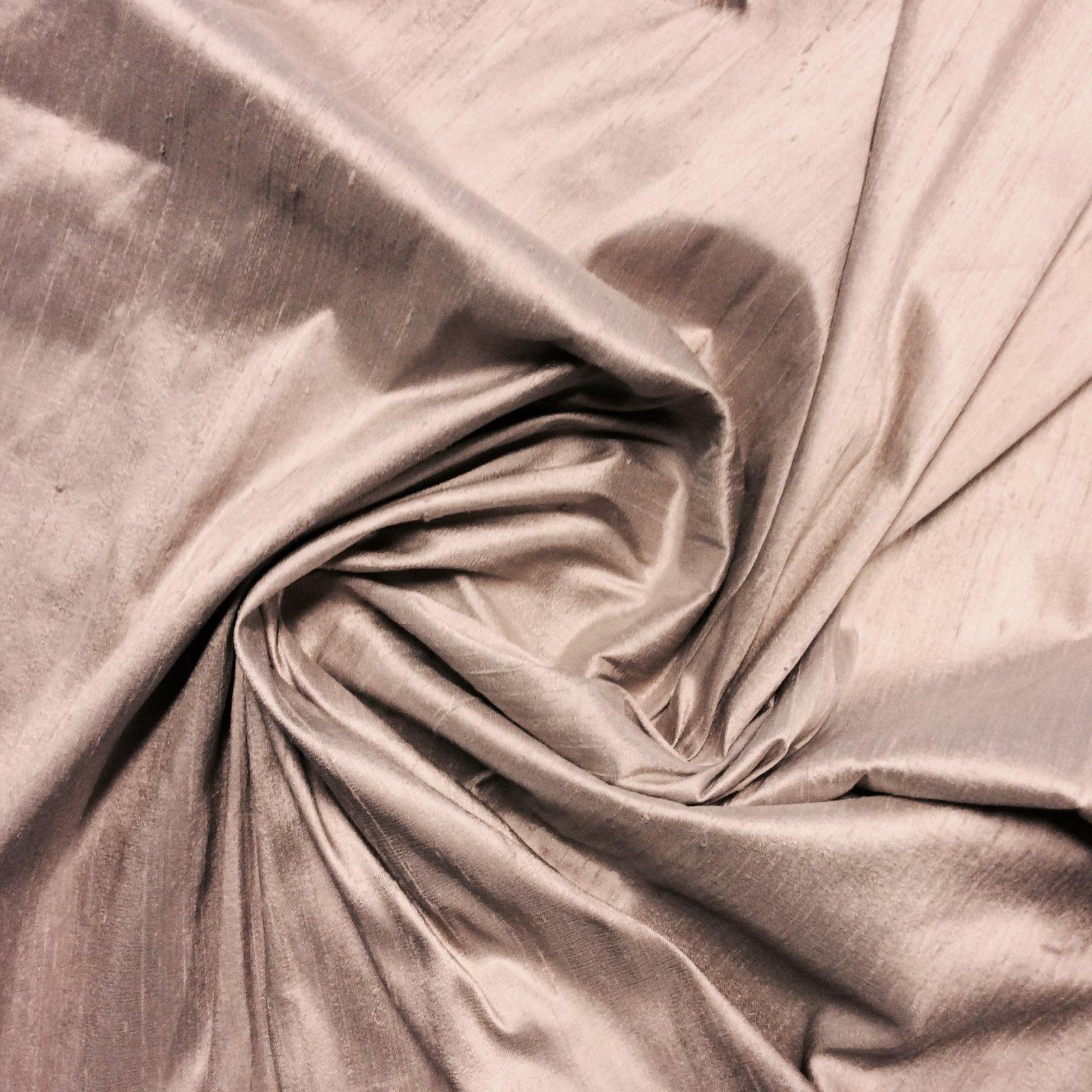 SILK Lavender Taupe Tan Exotic Hand Woven Dupioni 100% Silk Fabric Drapery Fabric BTY SHW006