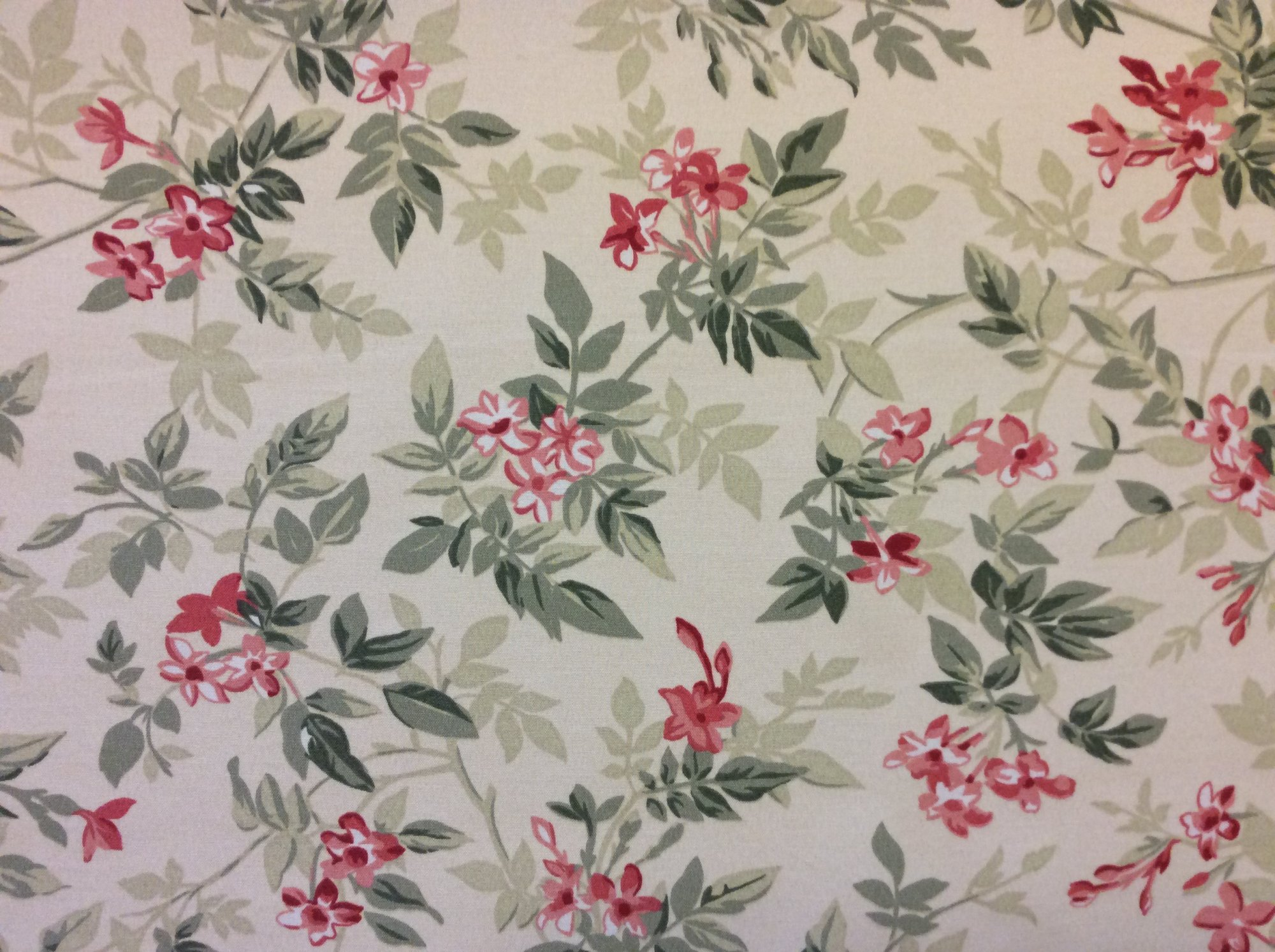 Floral Shabby Vintage Style Floral Antique Style Print Soft Outdoor Fabric S559