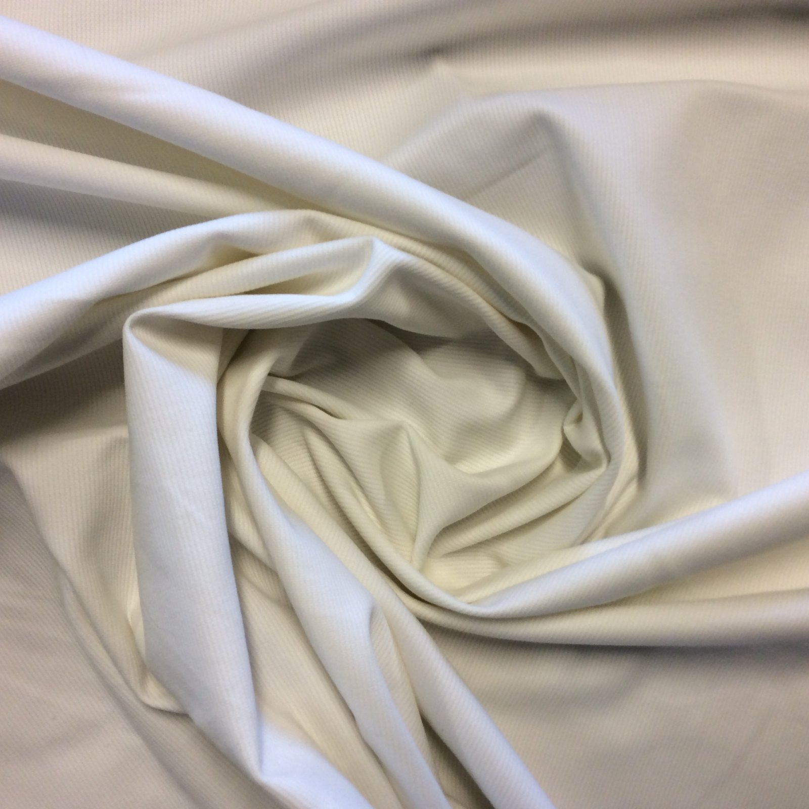 Knit Fabric Off White Ribbed Cotton Mid-Weight Apparel Sewing Stretch Dressmakers Fabric Made in Italy RR7557