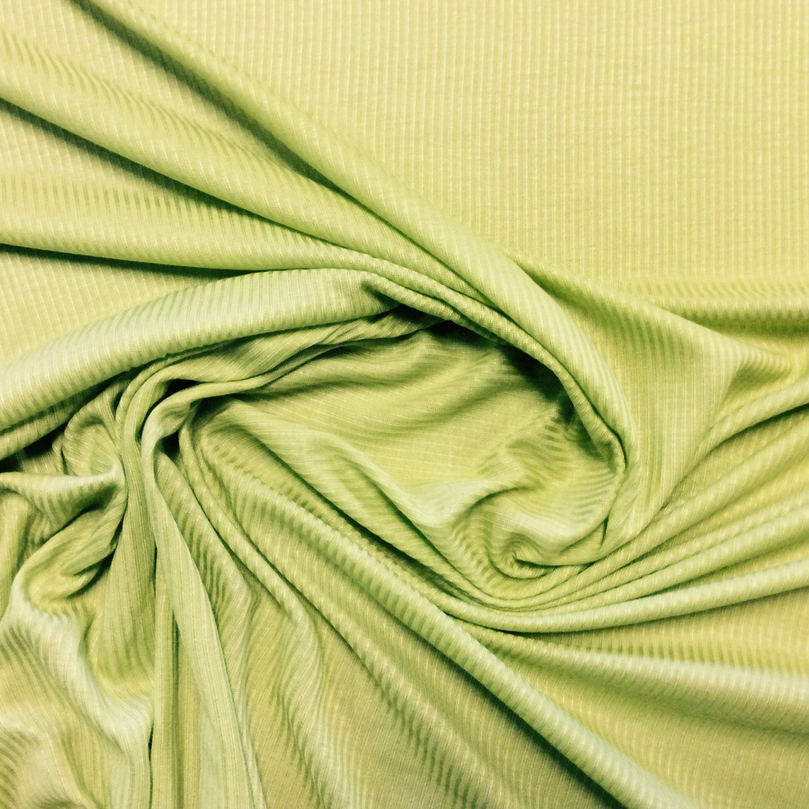 Knit Fabric Lime Green Ribbed Lightweight Apparel Sewing Stretch Dressmakers Fabric CC6289