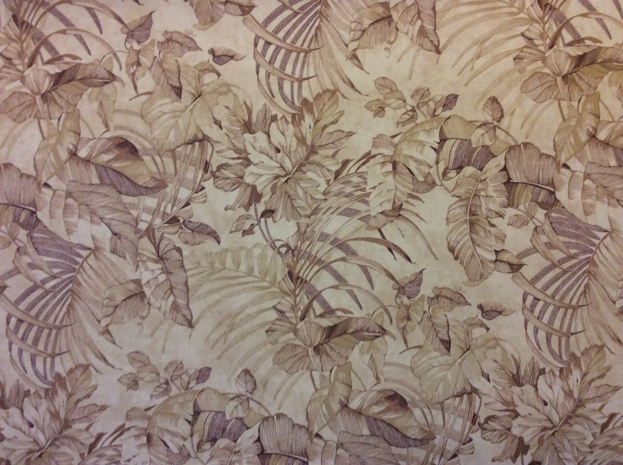 Neutral Tone Tropical Palm Floral Frond Toile Gold Brown Tone Indoor Outdoor Home Decor Upholstery Fabric 714