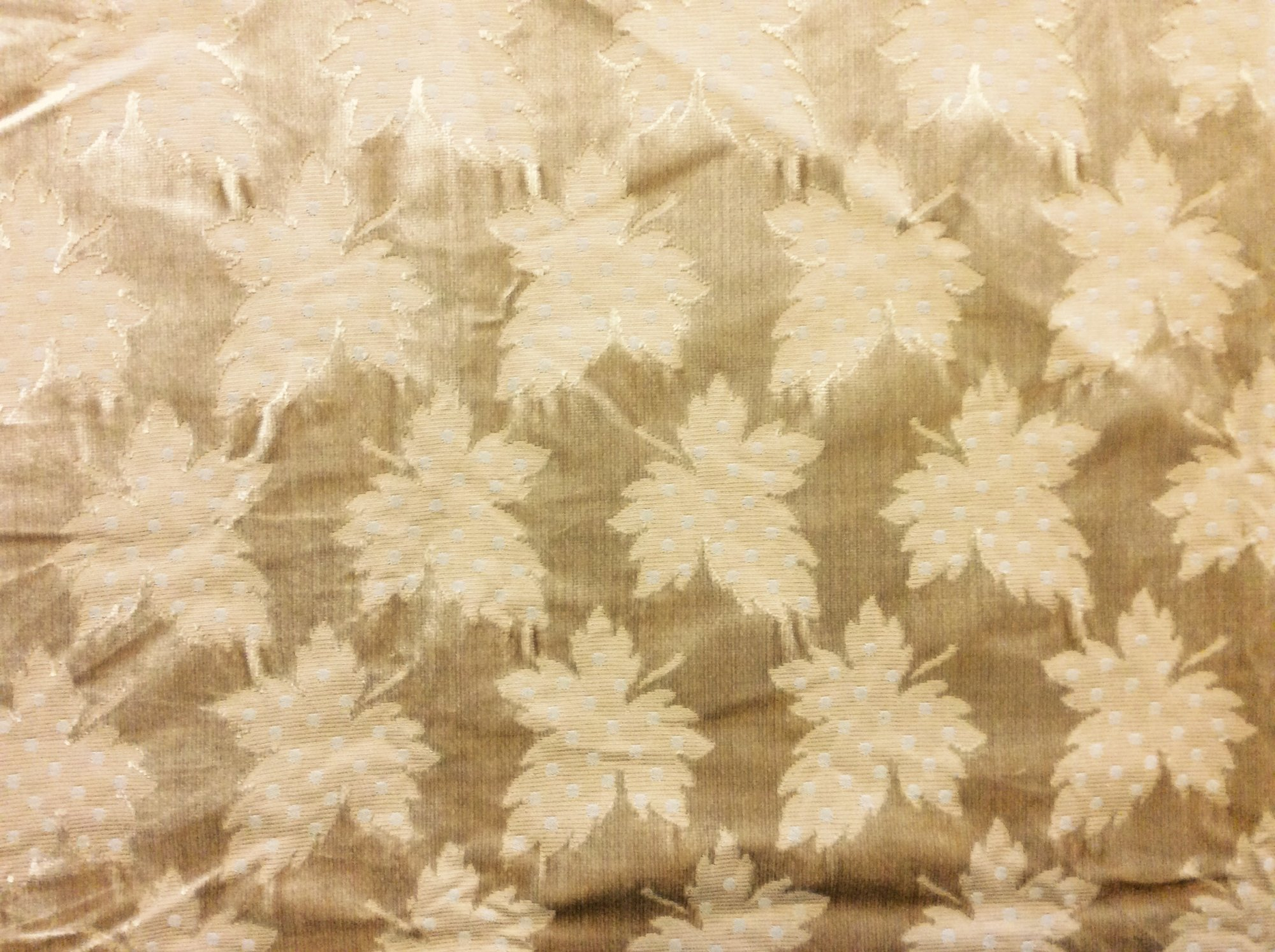 Last Piece! Clarence House Silk Velvet Leaf Gold Heavy High End Home Decor Upholstery Fabric REM018
