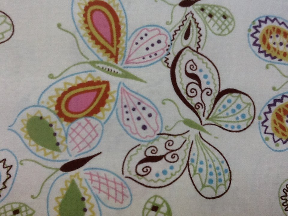 Butterfly Sketchbook Bug Insect Modern Sew Quilt Fabric Cotton Fabric J59