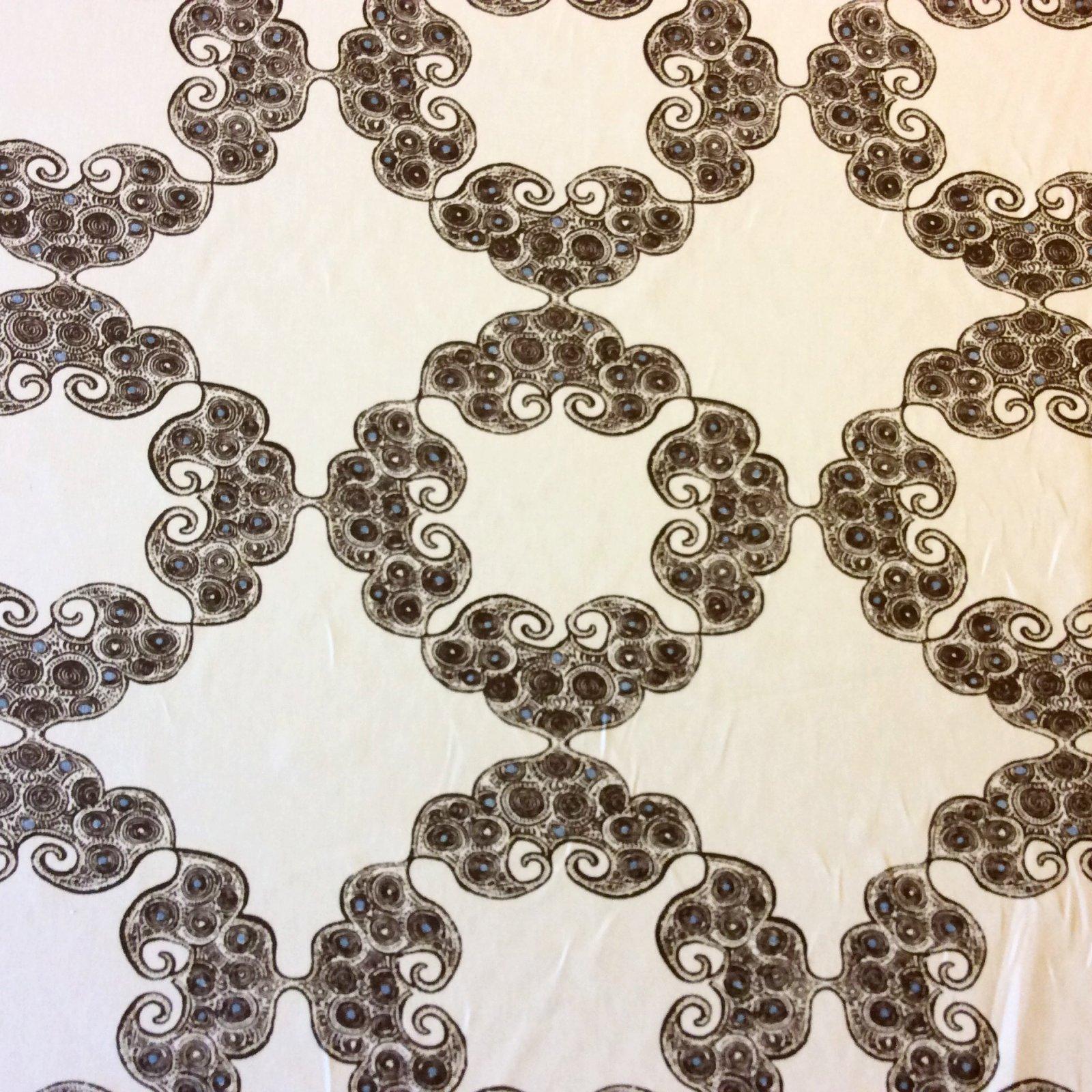Kinva Earth Geometric Geo Medallion Drapery Upholstery Home Decor Fabric LC15