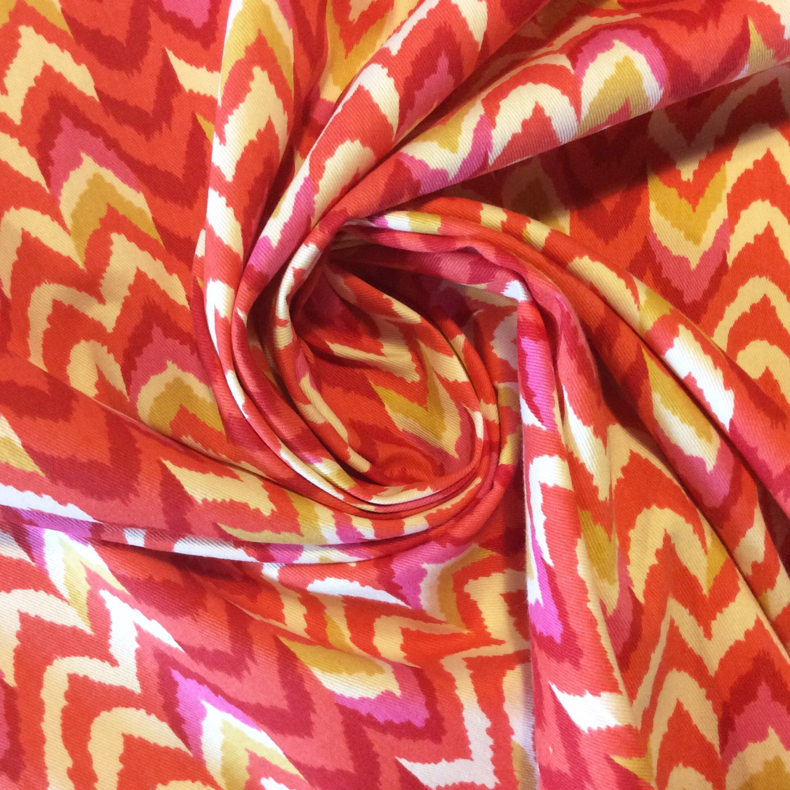 SOLD BY THE BOLT! 6 YARD BOLT! PCLC35 Chevron Neon Bright Pink Geo Geometric Wild Drapery Home Decor Fabric