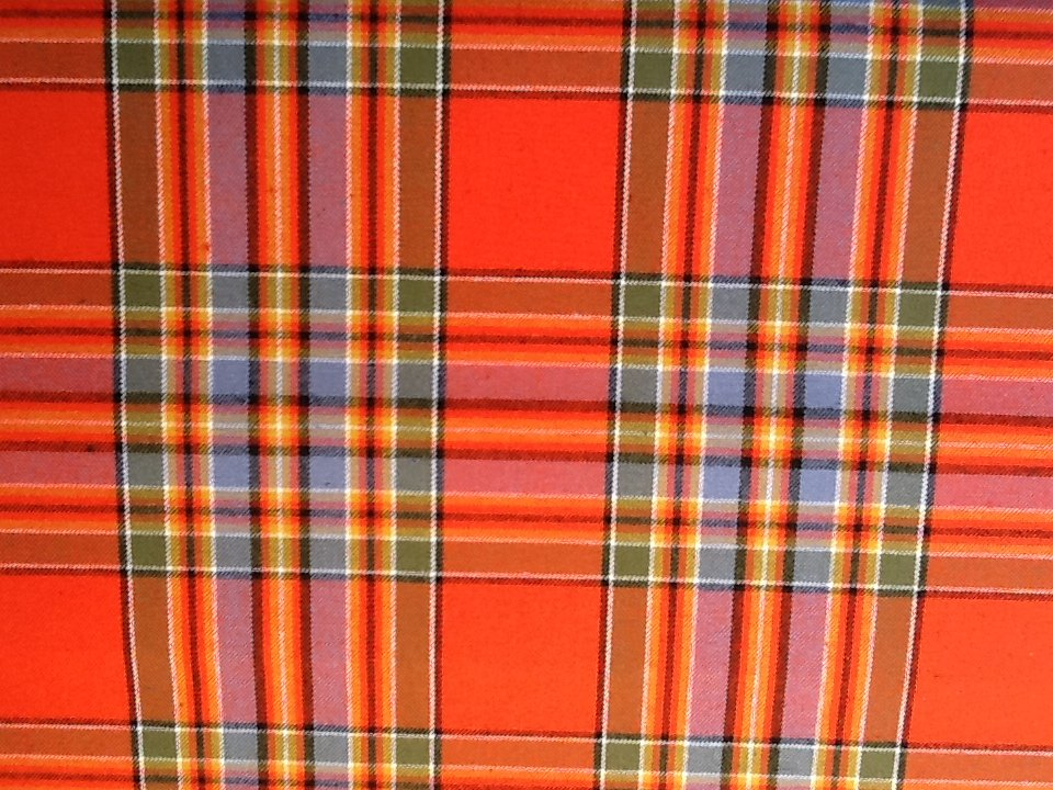 Clarence House Wool Plaid Soft Heavy Upholstery Fabric Drapery