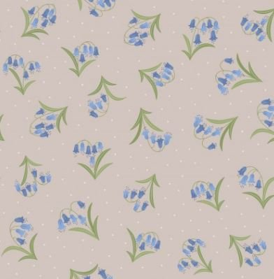 FAT QUARTER! Lewis & Irene Bluebells Flowers Cotton Quilt Fabric RPFIRENE
