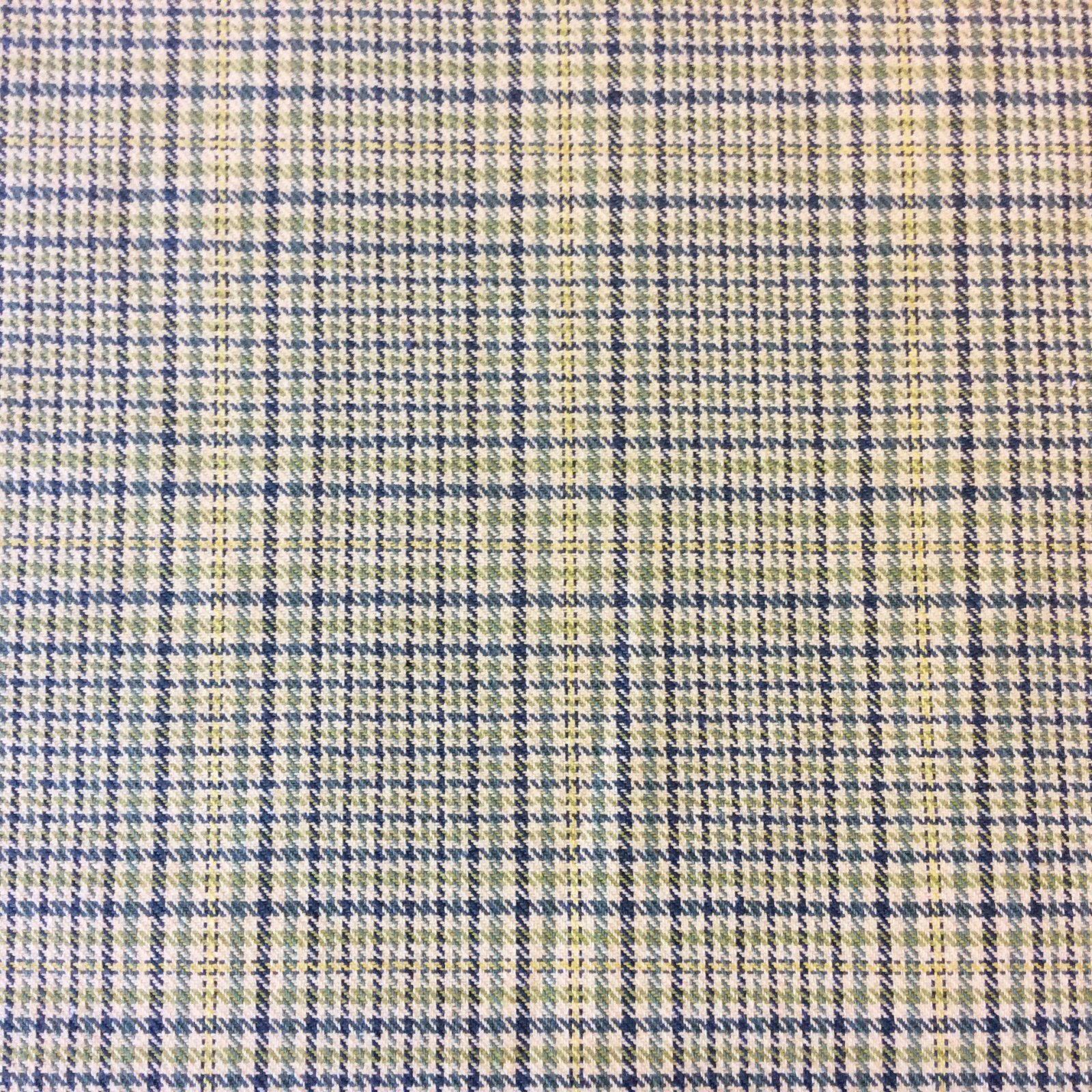 Plaid Classic Lagoon Houndstooth Plaid Geo Grid Upholstery Home Decor Fabric LHD210