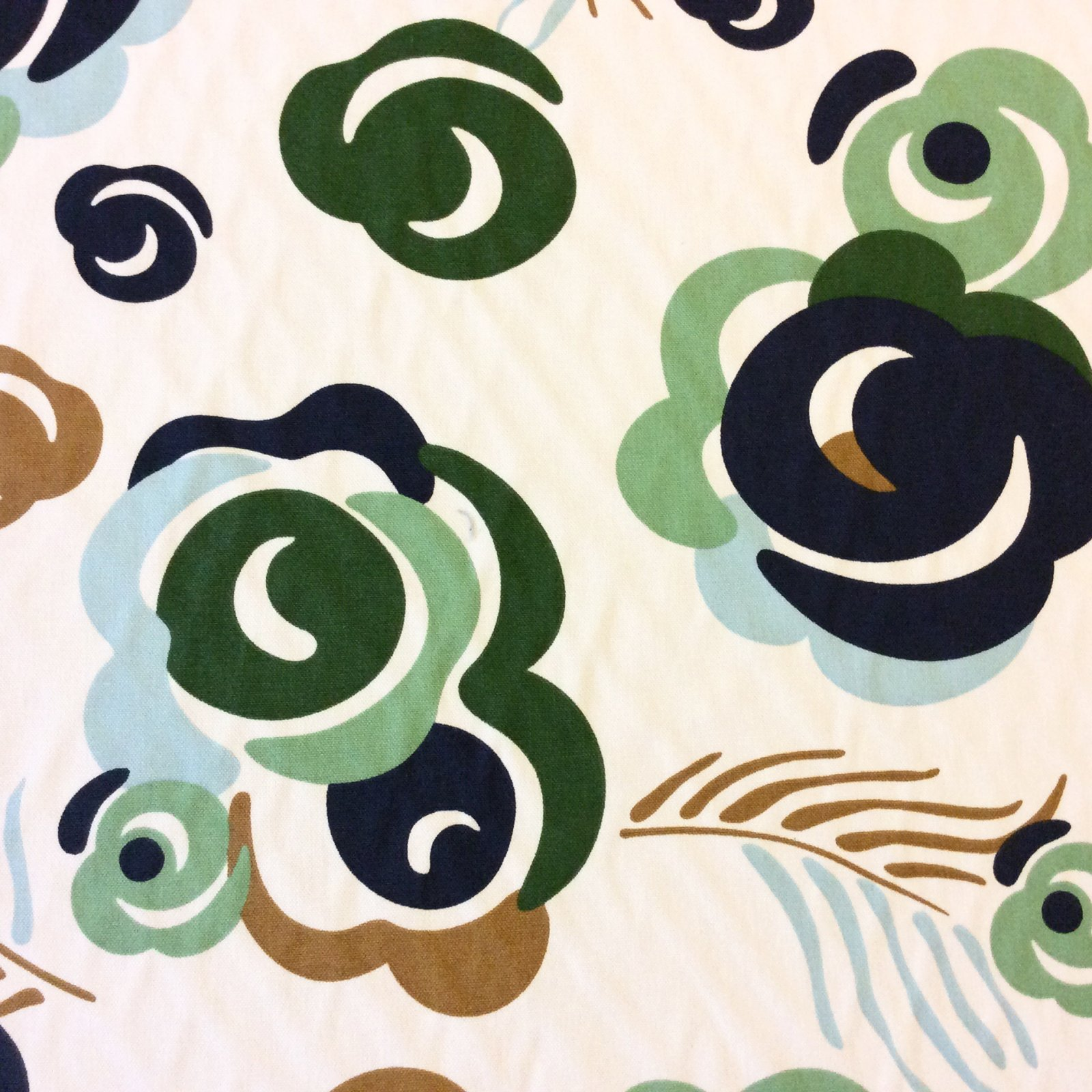 6 YARD BOLT!!! Modern Floral Cut out Contemporary Green Blue Heavy Weight Dwell Home Dec Cotton Fabric LHD206
