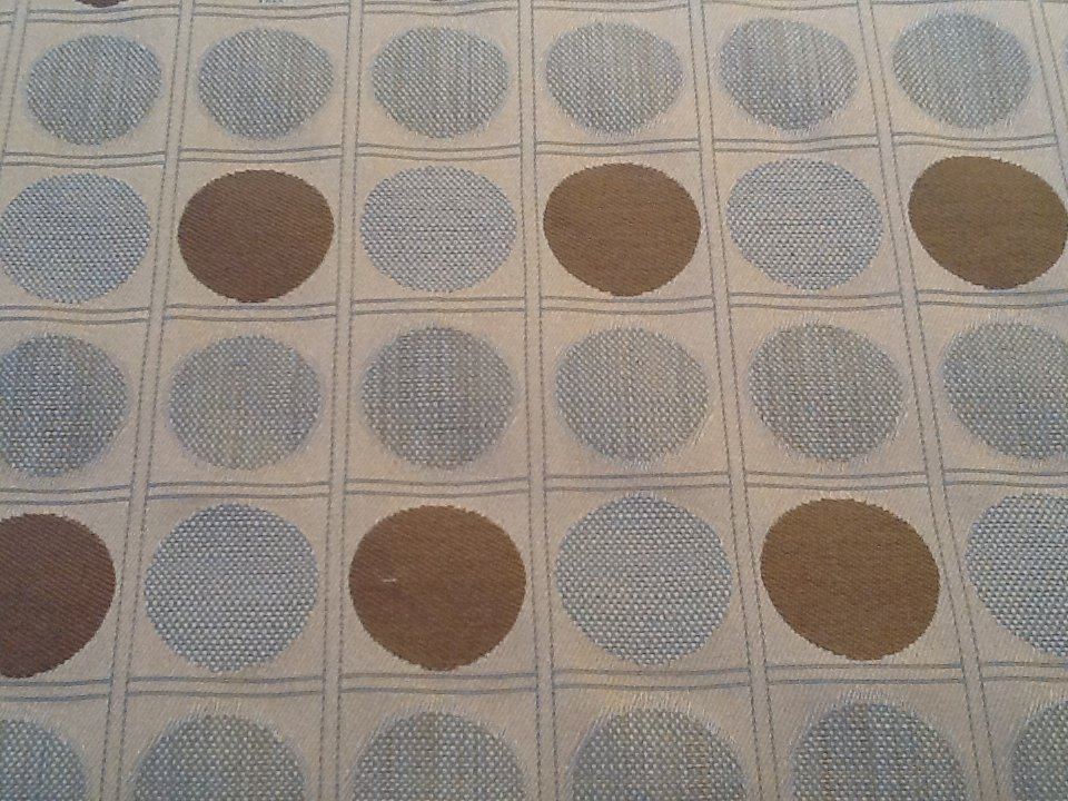 Modern Circles Squares Pattern Bold Beige Brown Blue Upholstery ...