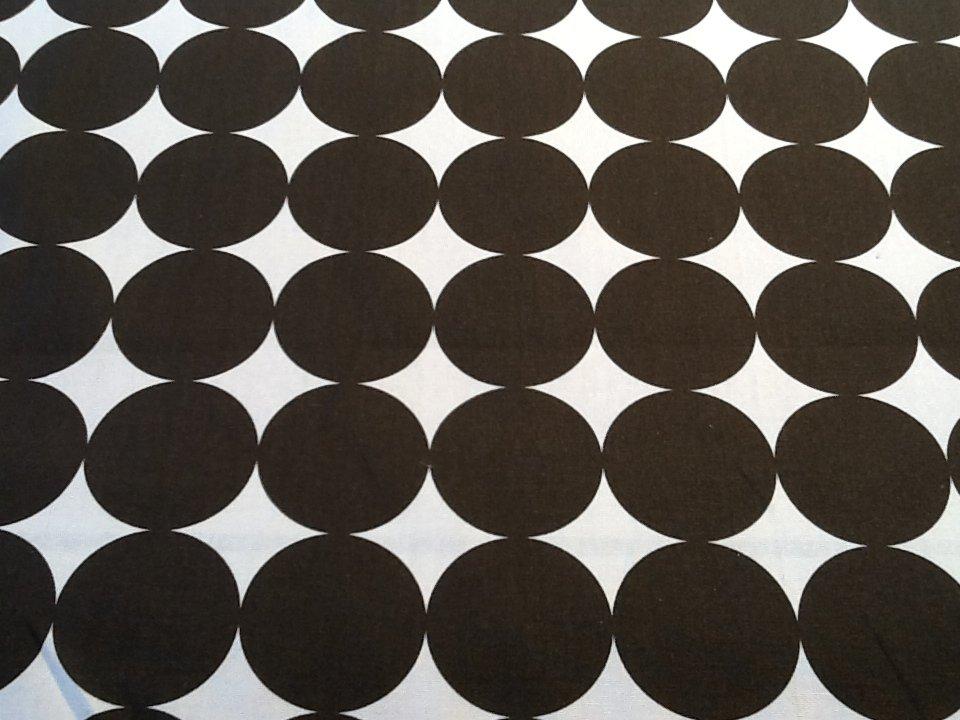 Dwell Studio Retro Dot Chocolate Brown White Modern Upholstery
