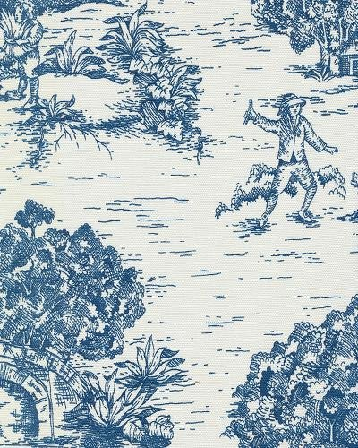 Toile Traditional Colonial French Provincial Print Heavy Weight Cotton Fabric Drapery Fabric Upholstery Fabric LHDSO523A