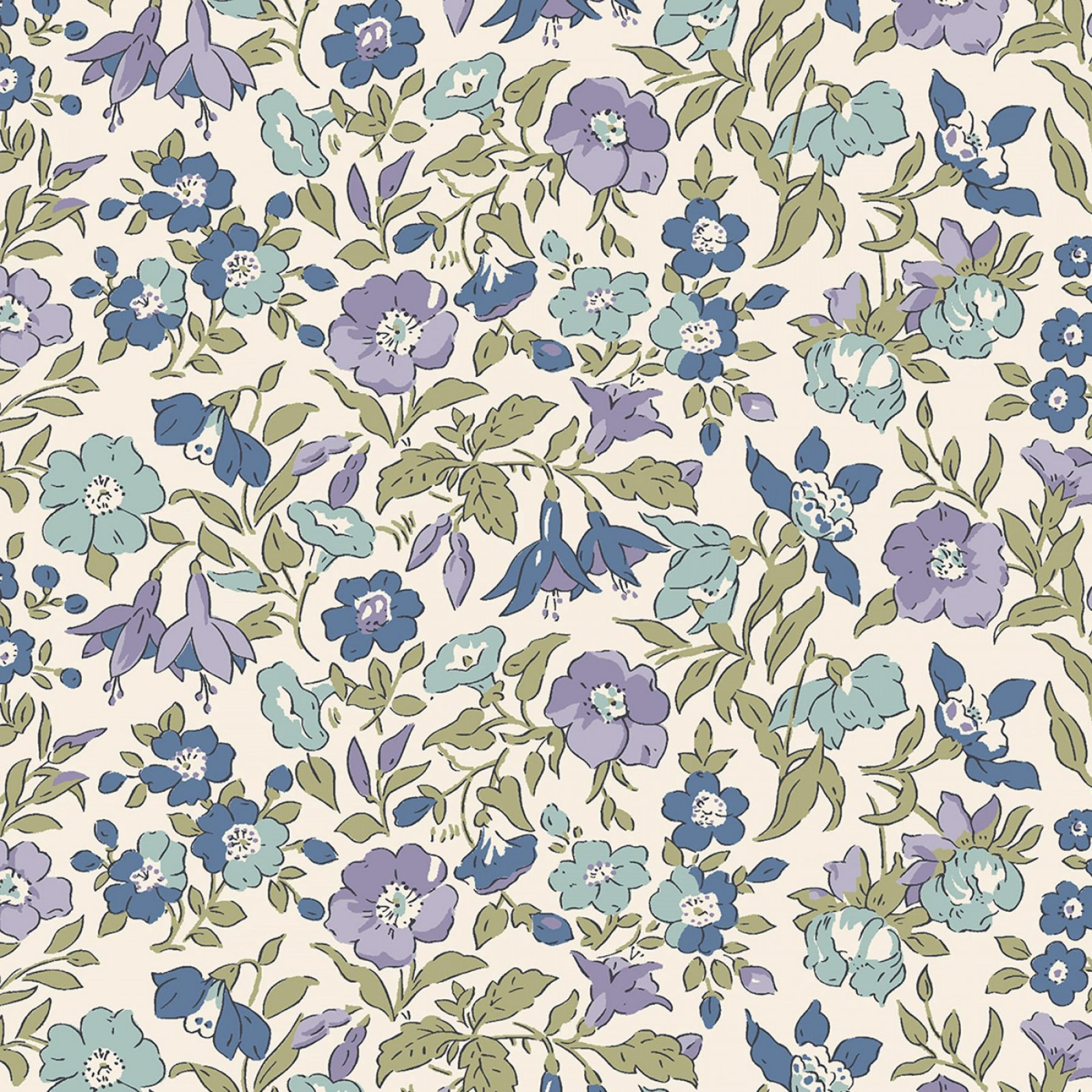 Liberty of London English Garden Mamie Floral Print Cotton Quilt Fabric SK22