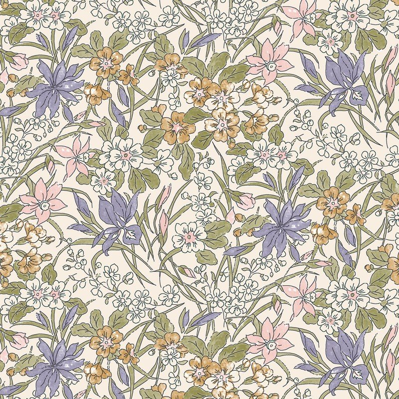 Liberty of London English Garden Ricardo Floral Print Cotton Quilt Fabric SK20