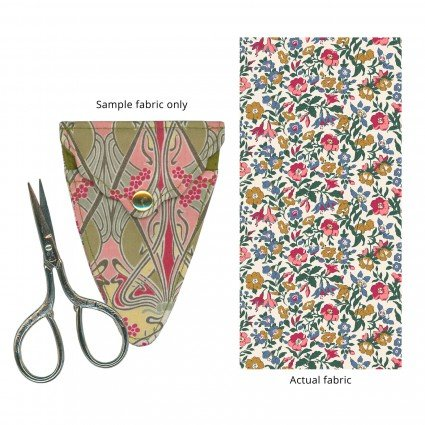 Liberty of London Embroidery Scissors with Case Bright Floral Fabric SK17