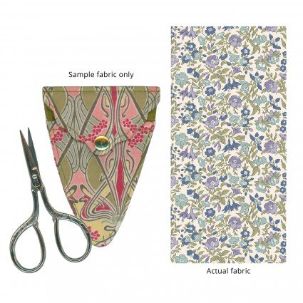 Liberty of London Embroidery Scissors with Case Blue & Purple Floral Fabric SK16