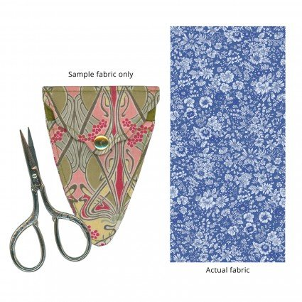 Liberty of London Embroidery Scissors with Case Blue Floral Fabric SK15