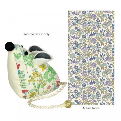 Liberty of London Mouse Pincushion Blue & Purple Floral Fabric SK13