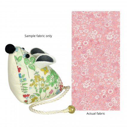 Liberty of London Mouse Pincushion Pink Floral Fabric SK14