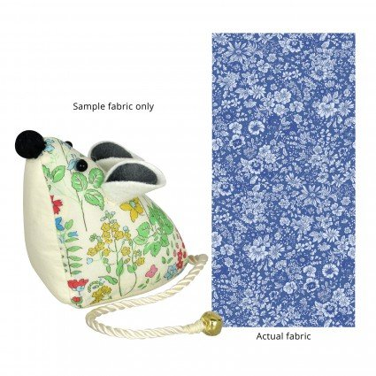 Liberty of London Mouse Pincushion Blue Floral Fabric SK11