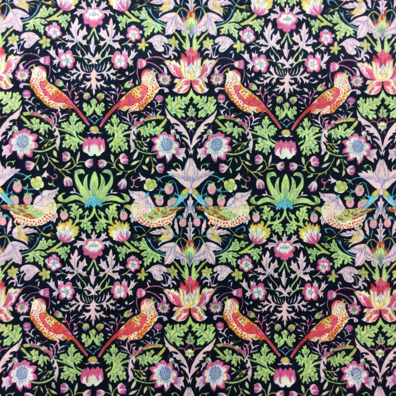 Liberty of London Strawberry Thief Floral Birds Cotton Apparel Lawn Fabric Fashion Fabric LL04