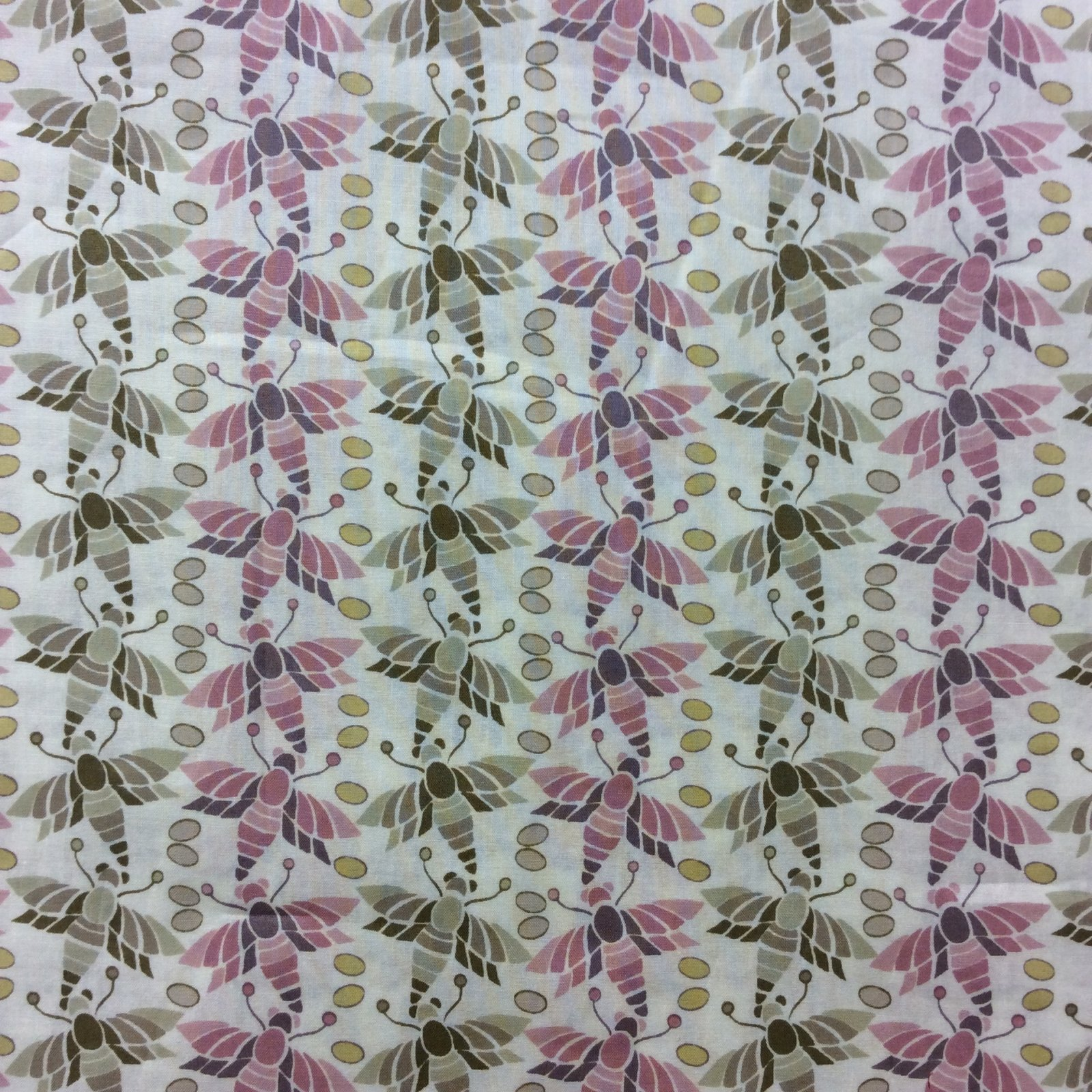 Liberty of London Bugs Moths Cotton Apparel Lawn Fabric Fashion Fabric LL06